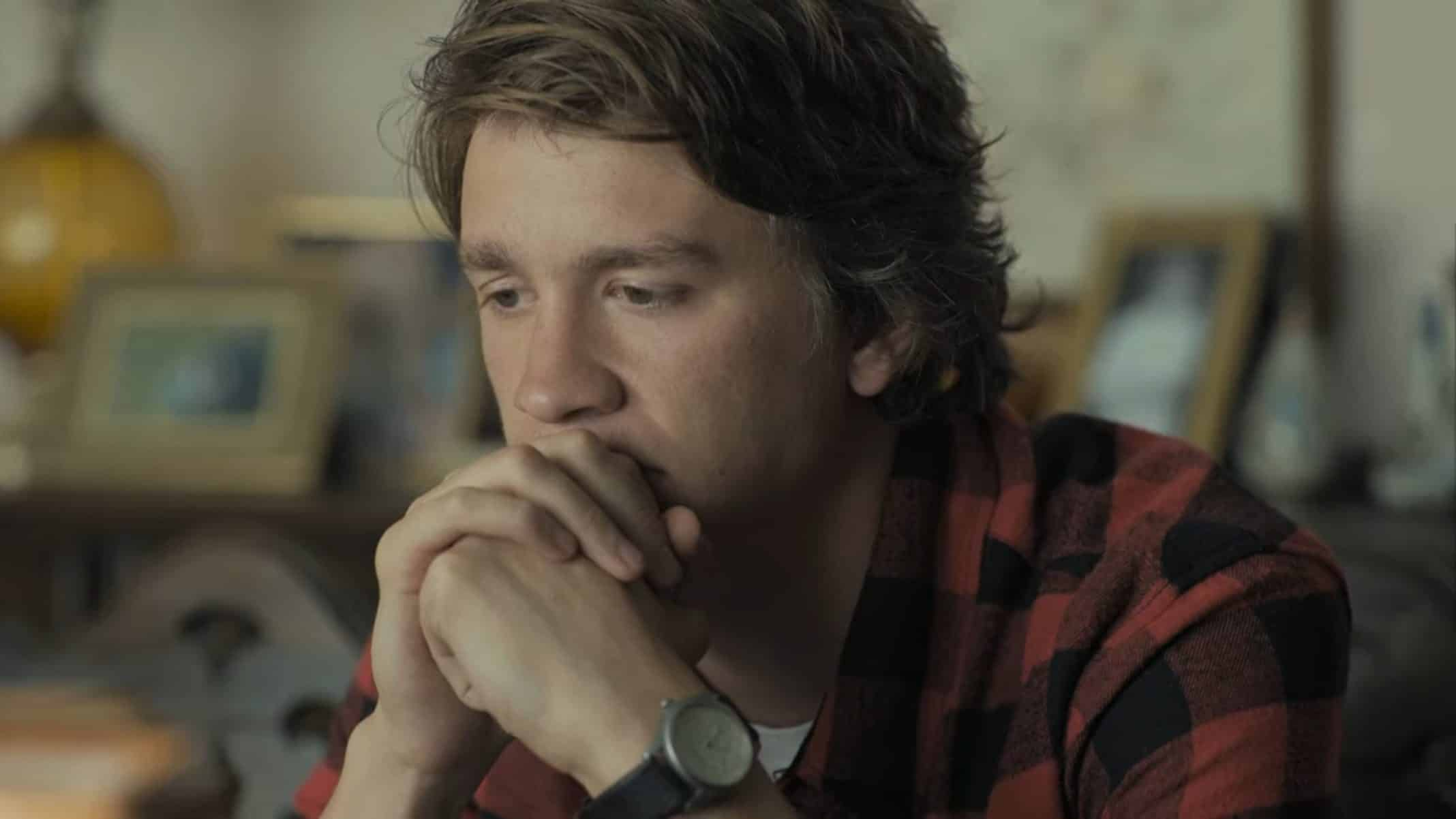 Ethan (Thomas Mann) thinking about life and how things have drastically changed.