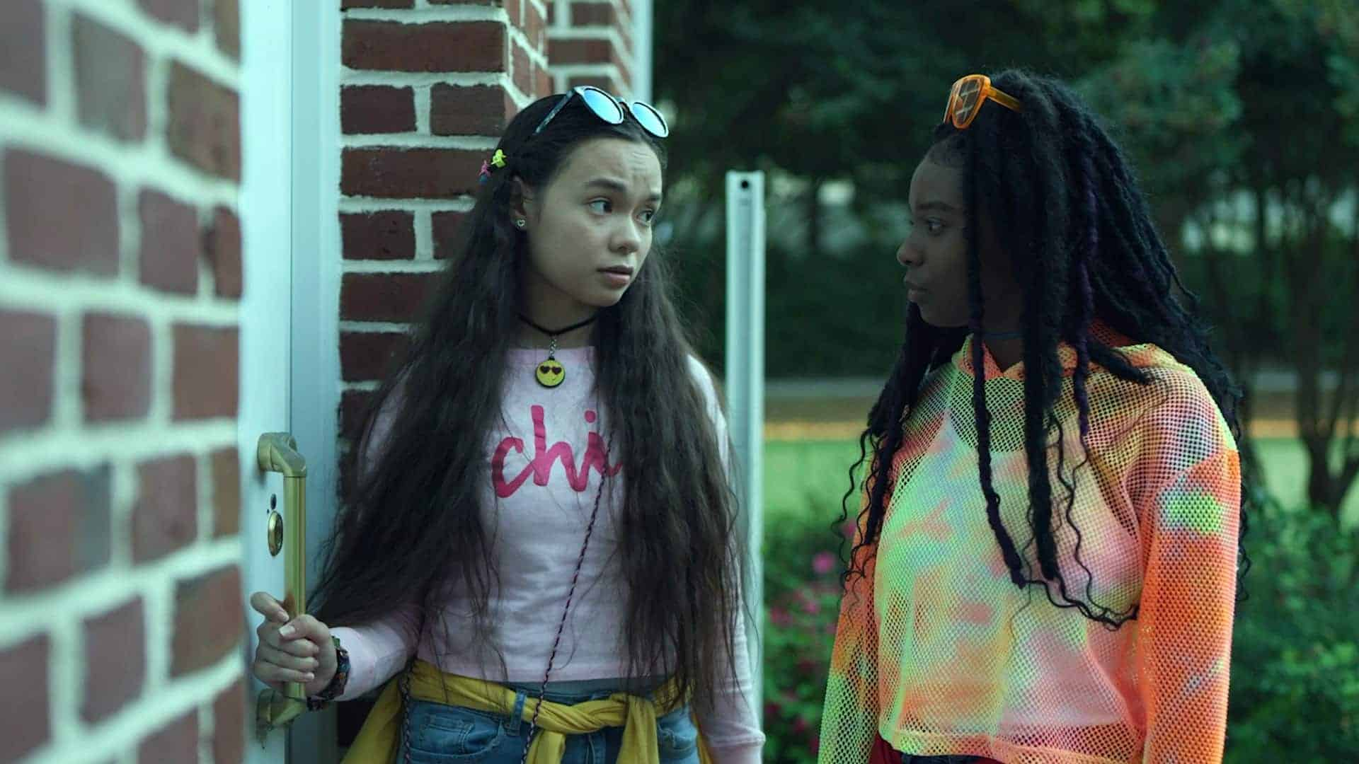 Gabby (Gabriella Pastore) and Lulu (Ja'ness Tate) about to reveal the results of their investigation.