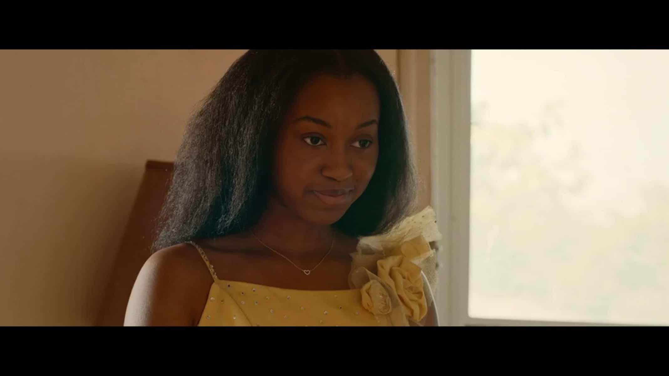 Kai (Alexis Chikaeze) in her Miss Juneteenth dress.
