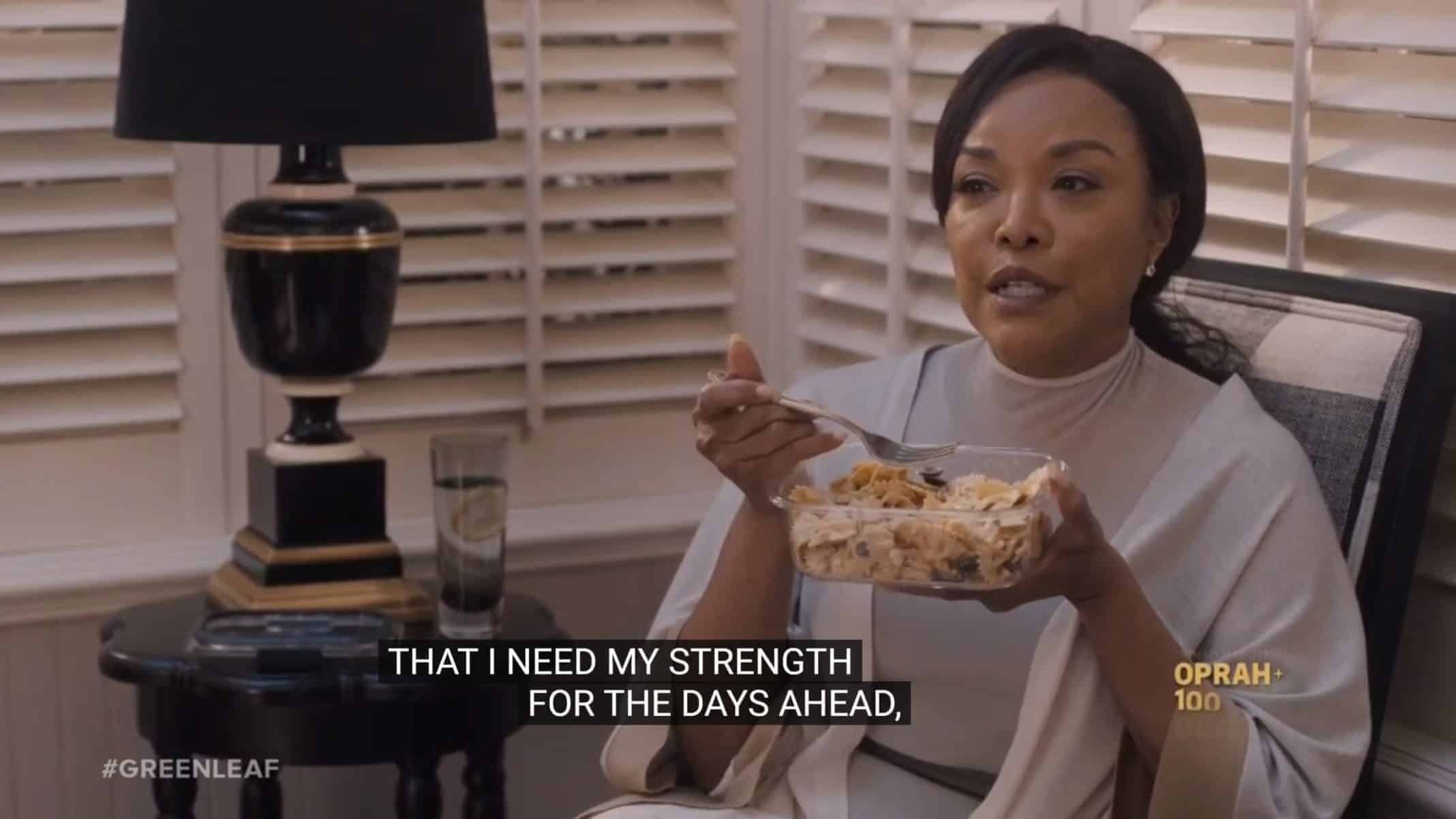 Lady Mae (Lynn Whitfield) noting she needs her strength for what is to come - Greenleaf
