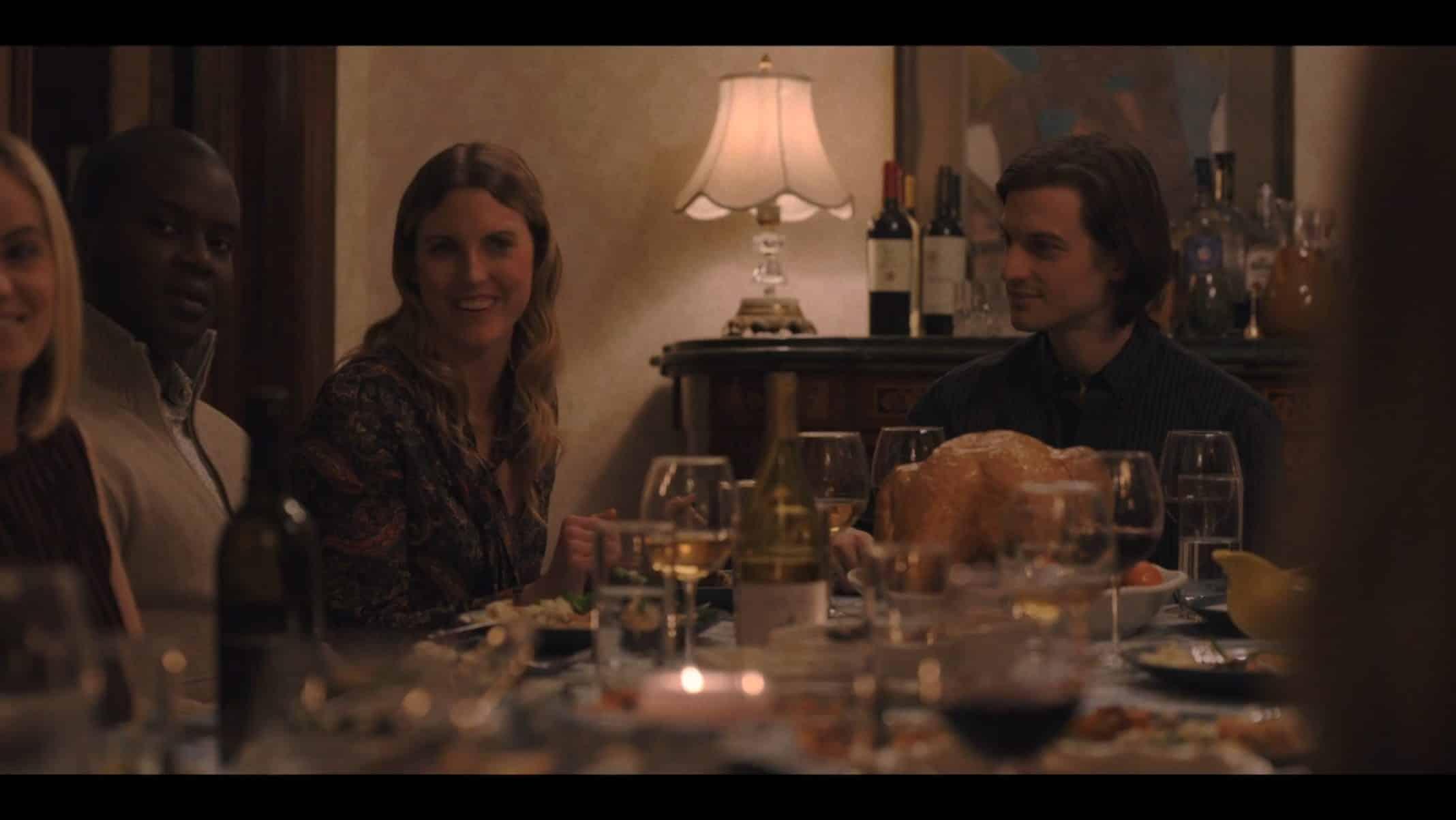 Laurel (Diana Irvine) at Jim's friendsgiving.