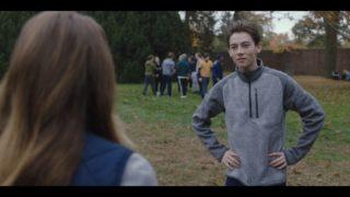 Luke (Griffin Gluck) taking a break from ultimate Frisbee.