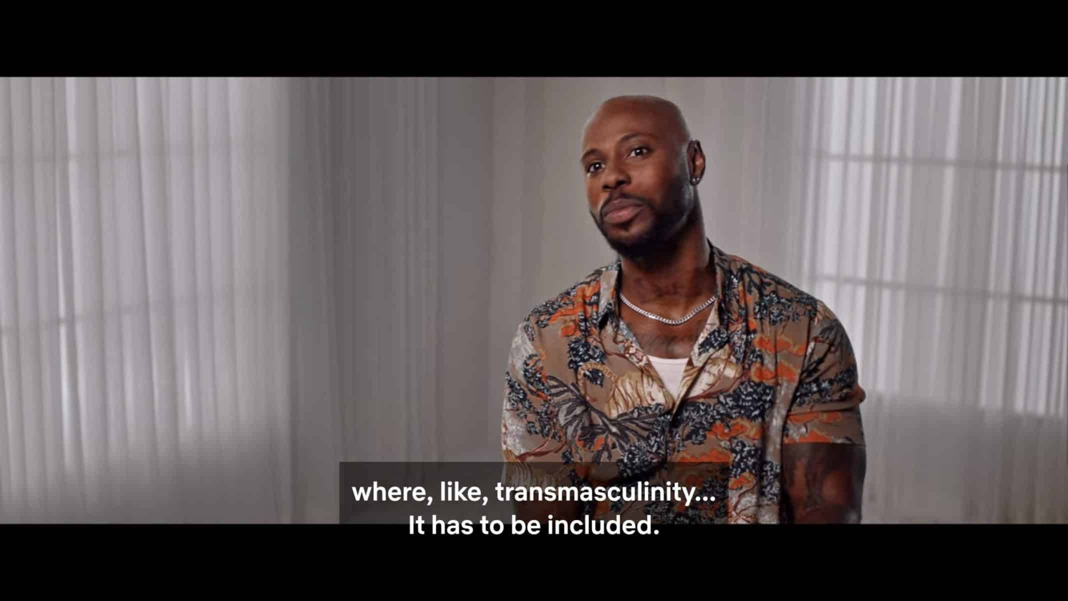"""Marques Vilson criticizing """"Pose"""" for its lack of trans-men"""