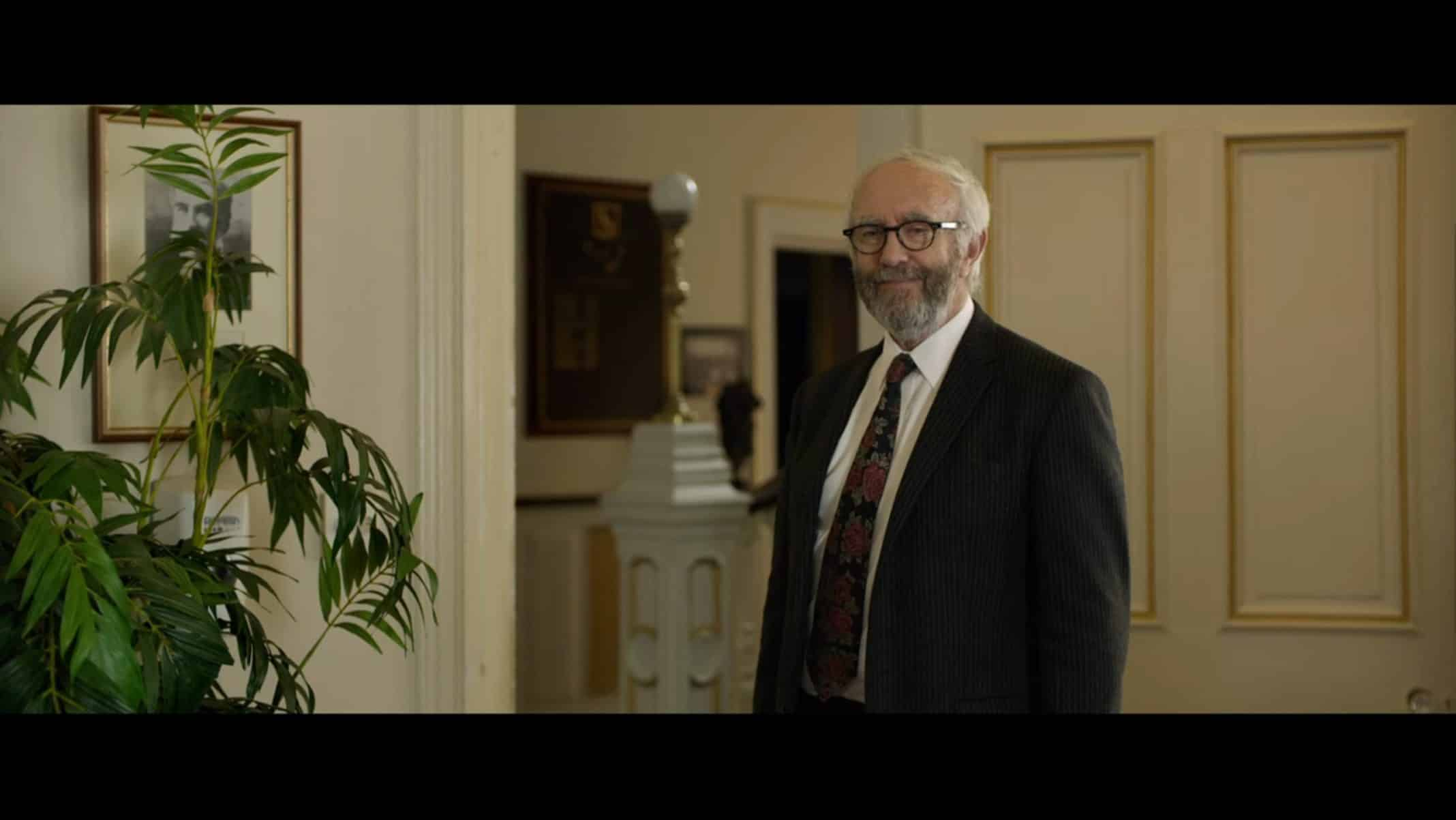 Raymond (Jonathan Pryce) knowing his nephew is likely to make the right decision.