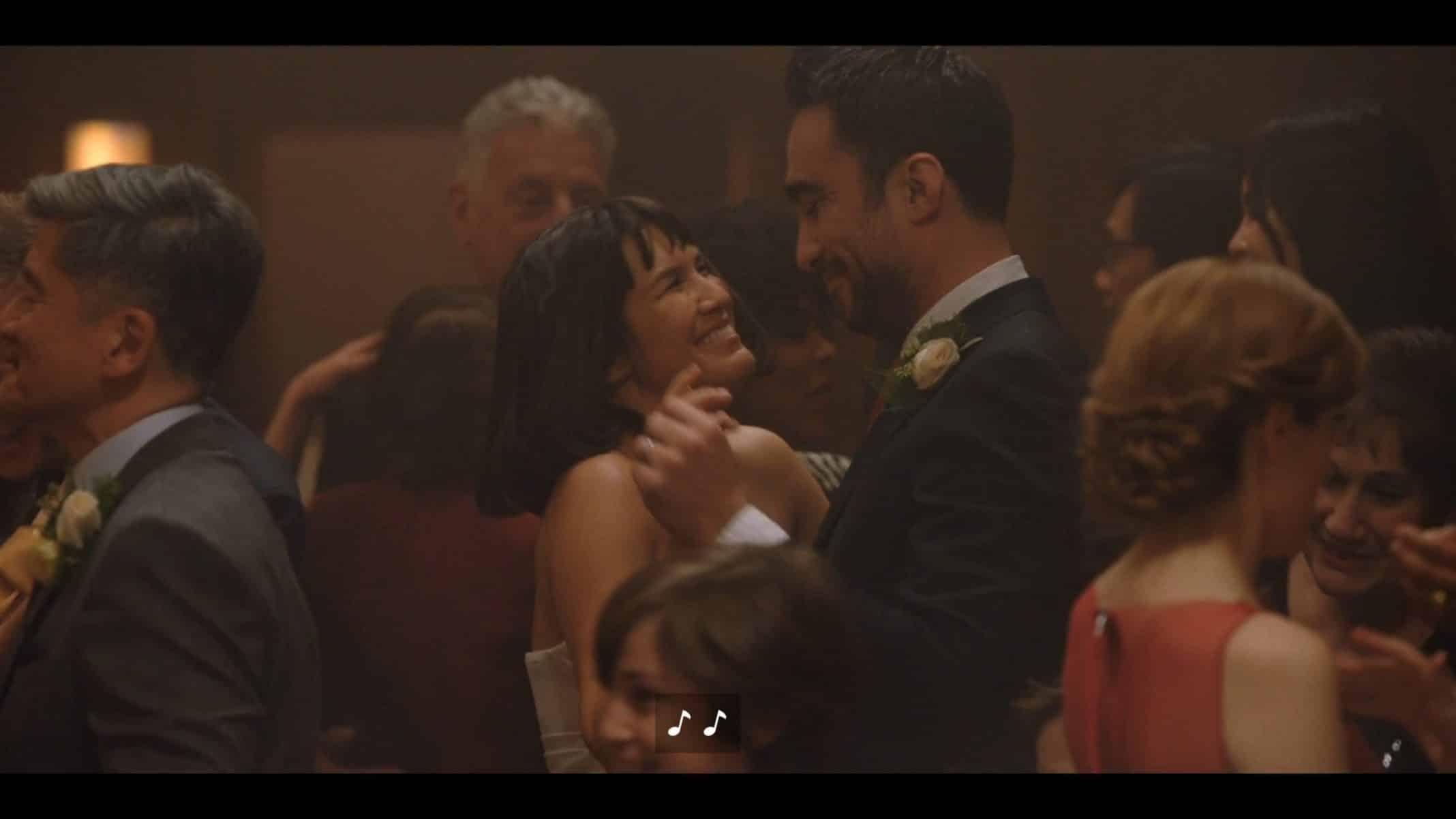 Sara and Angelo (Angelo Lanza) dancing at their reception.