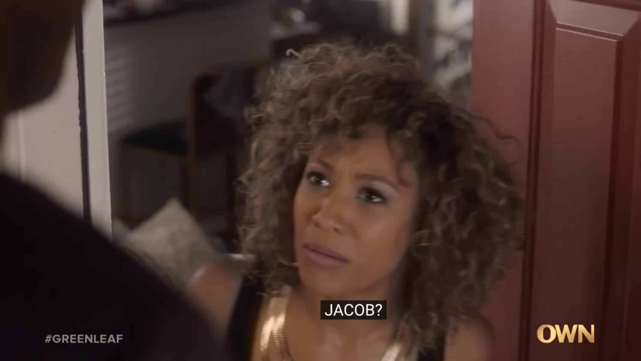 Tasha (Asia'h Epperson) talking to Jacob who is looking for Basie - Greenleaf