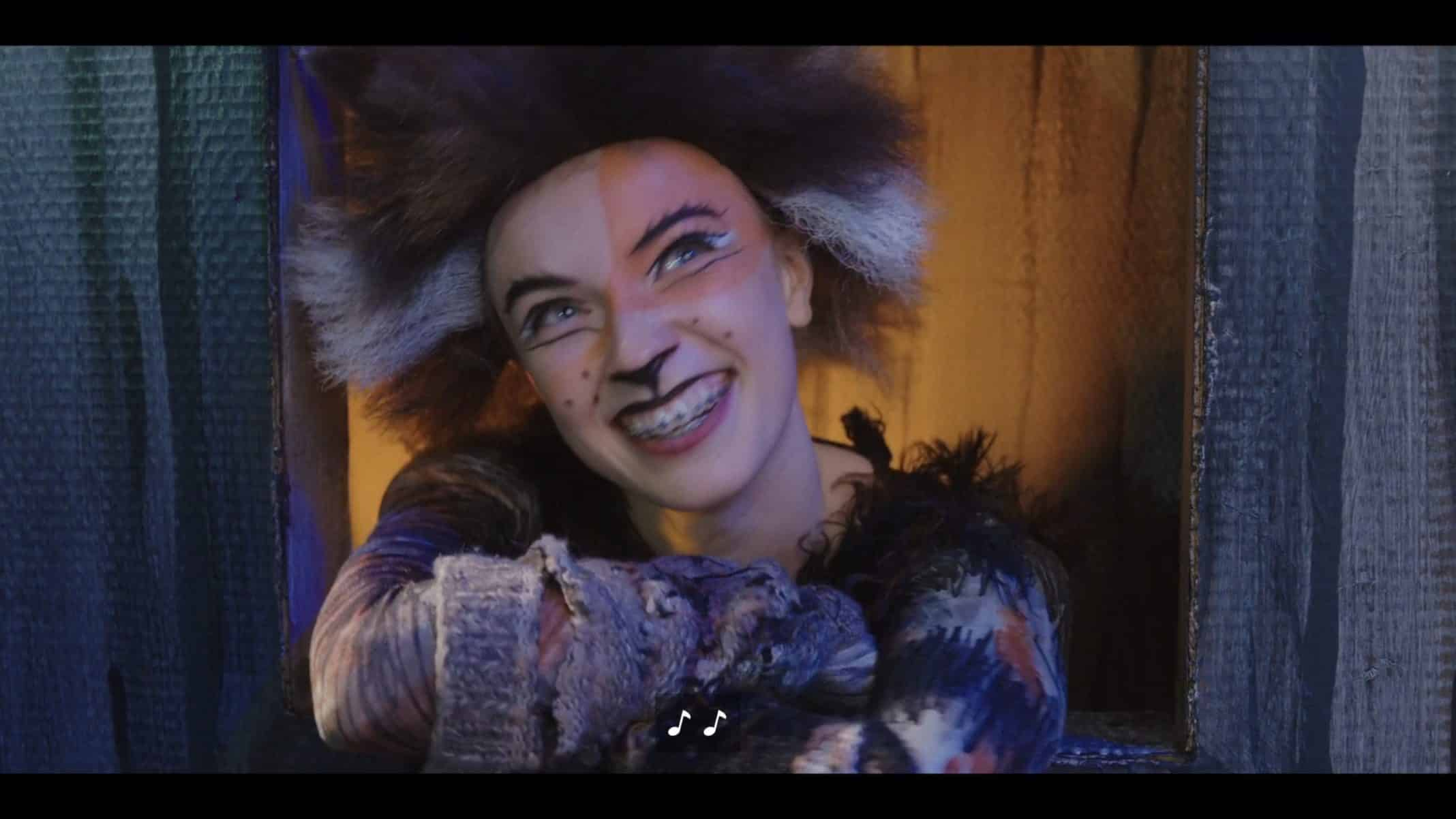 """Young Darby (Courtney Grosbeck) in a production of """"Cats"""""""