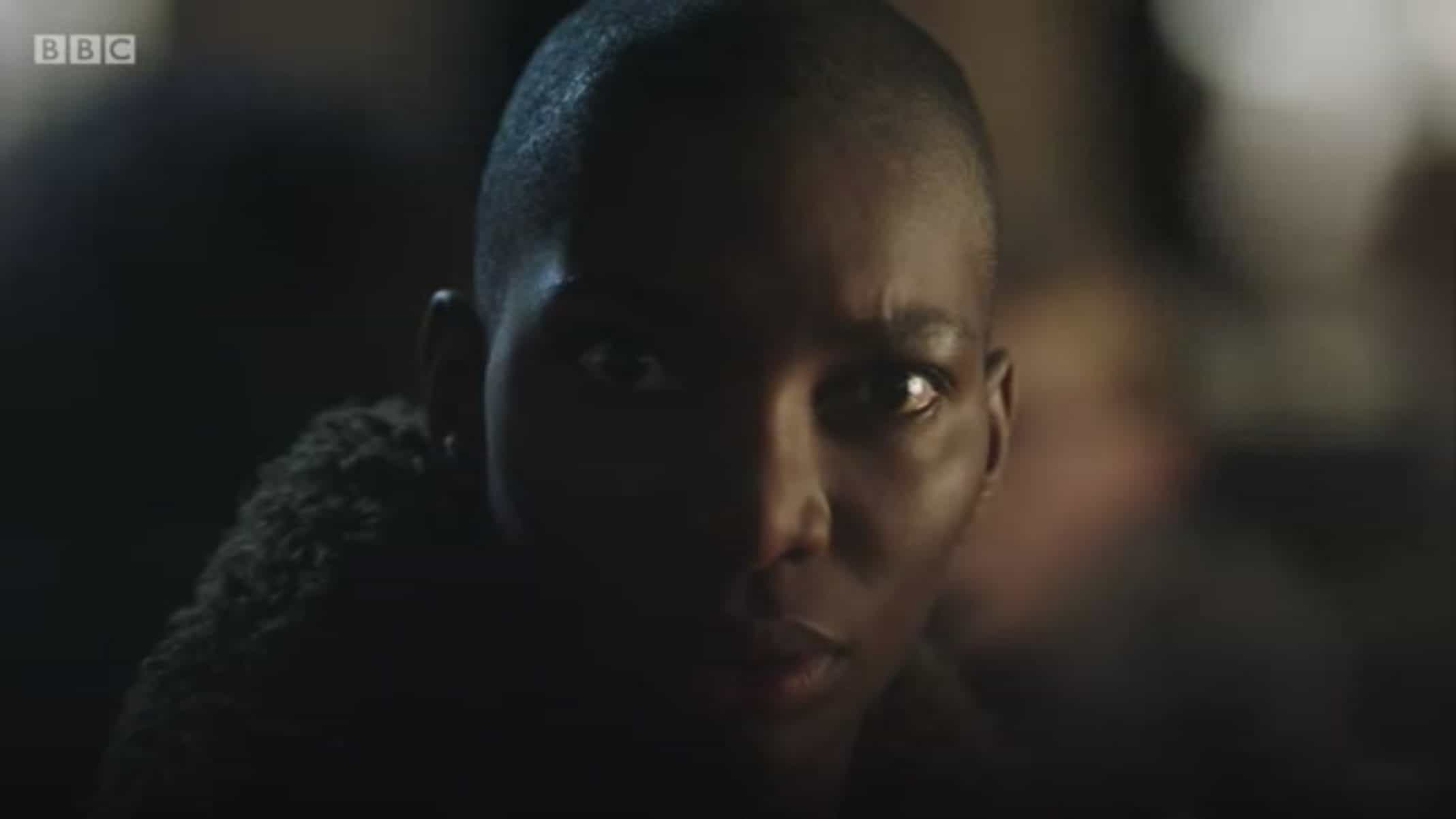 Arabella (Michaela Coel) recognizing her rapist and his accomplice.