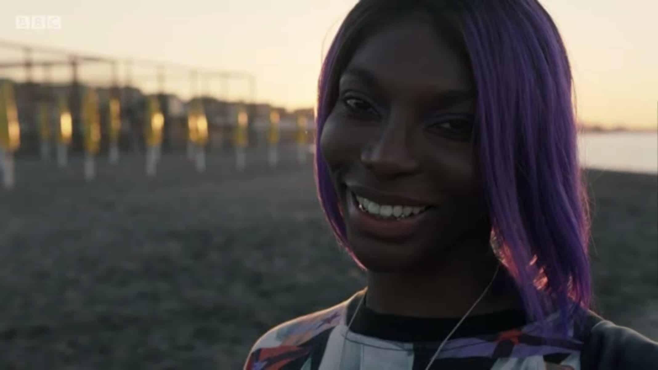 Arabella (Michaela Coel) smiling