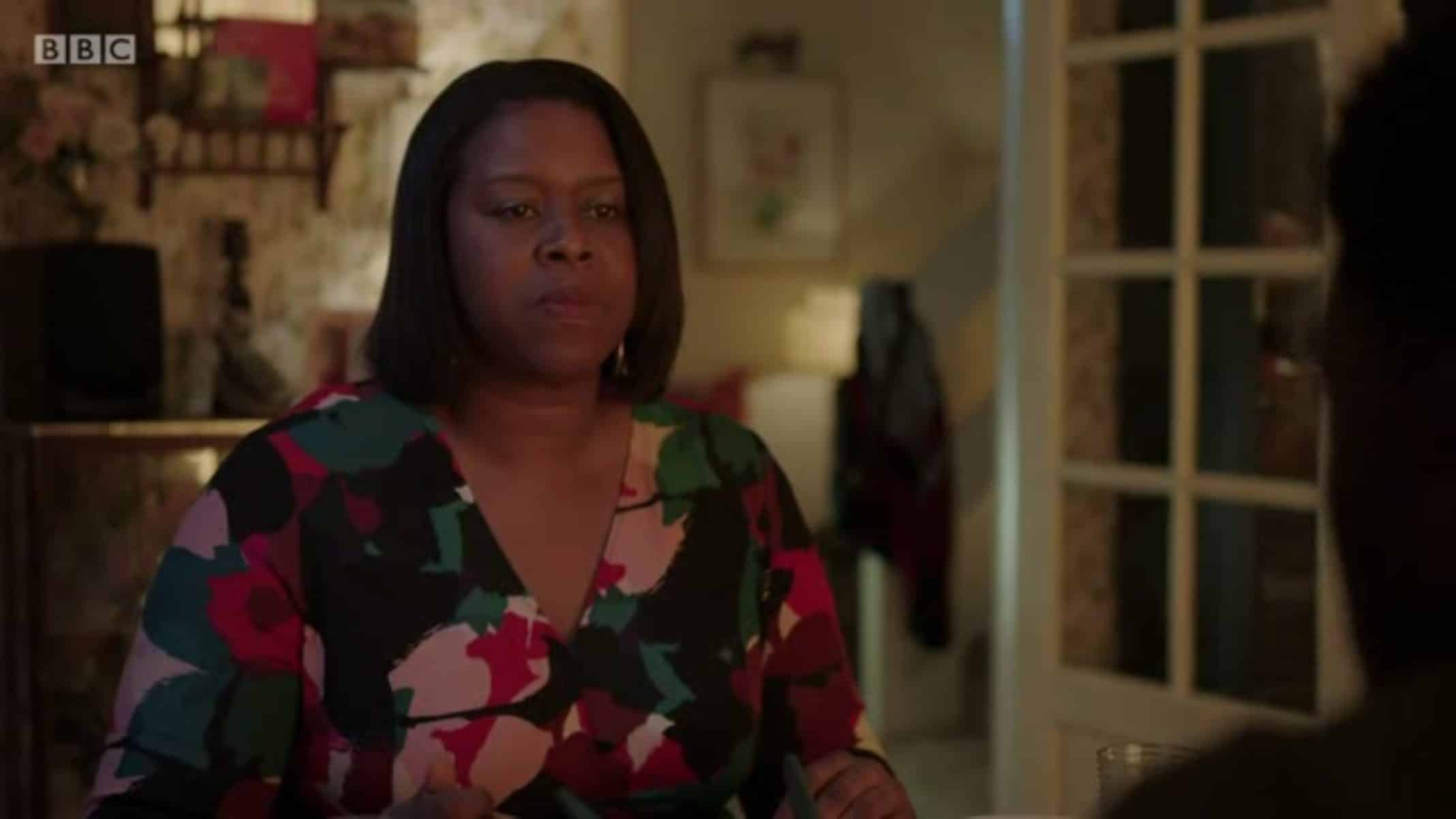 Grace (Michelle Greenidge) after hearing what happened to Arabella.