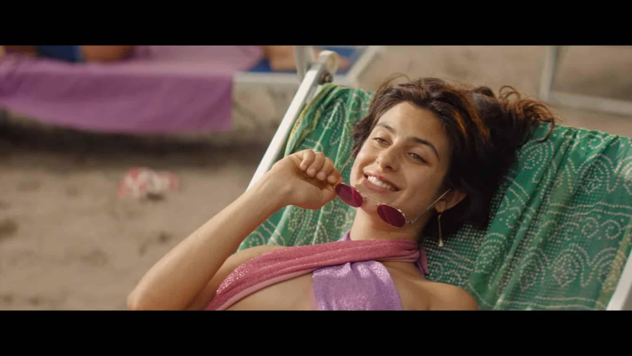 Guenda (Fotini Peluso) relaxing in her bikini | Under the Riccione Sun