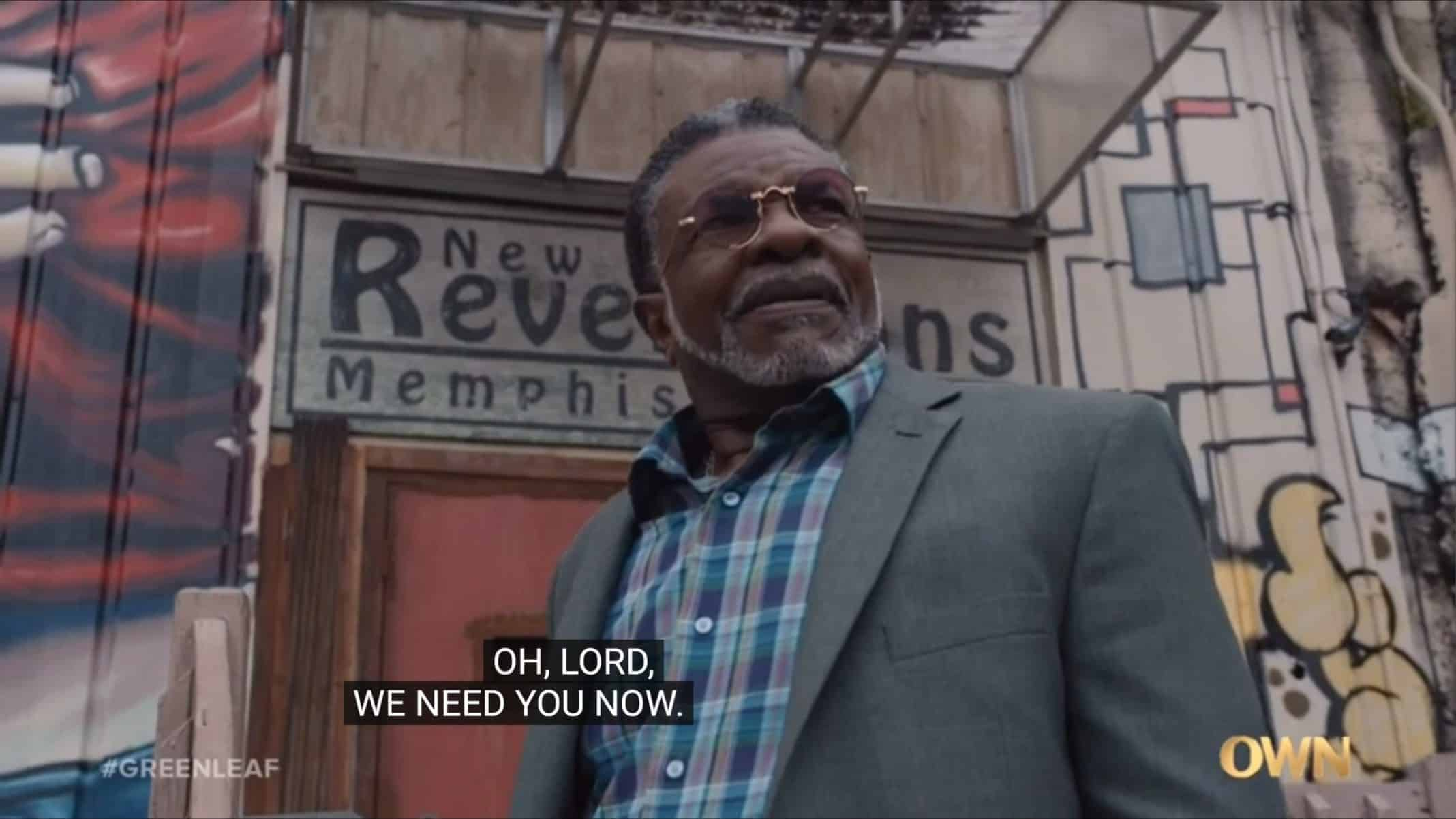 James (Keith David) going to Tara's church