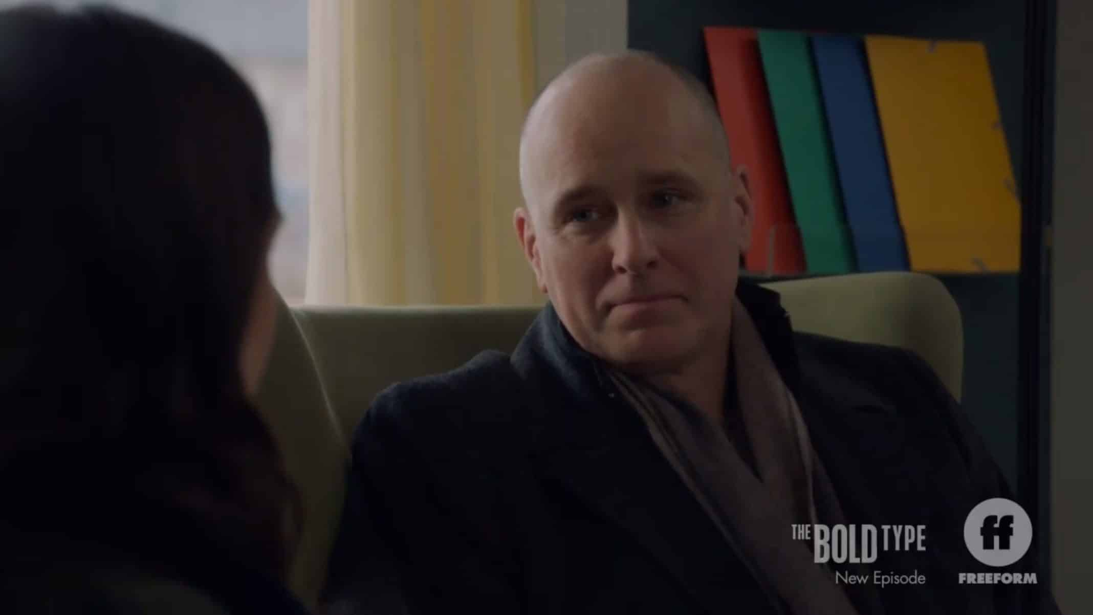 Jane's Dad (Kelly AuCoin) and Jane having a heart to heart.