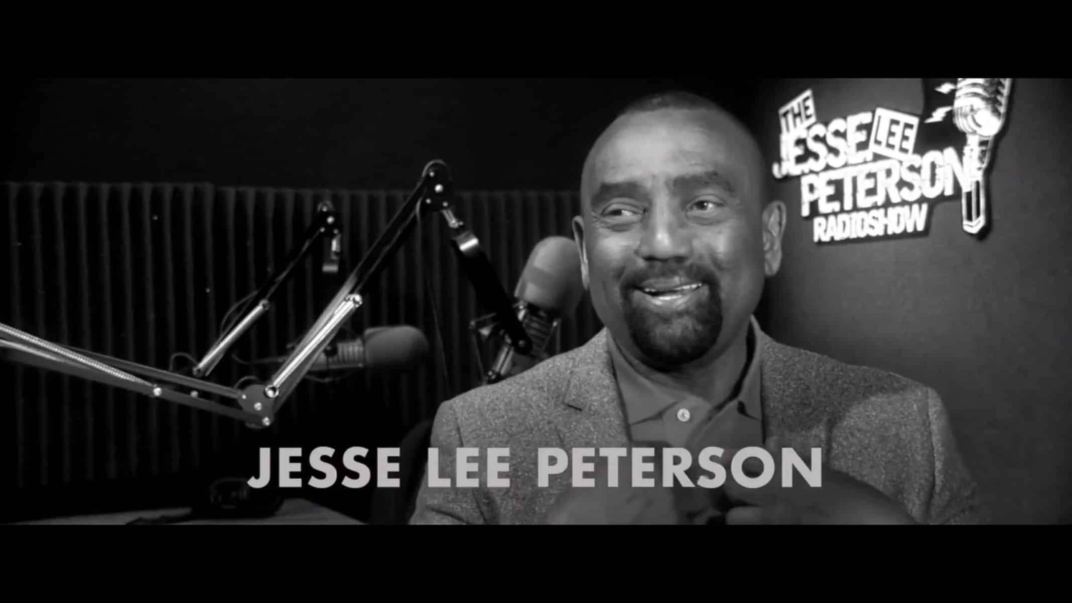 Jesse Lee Peterson being interviewed