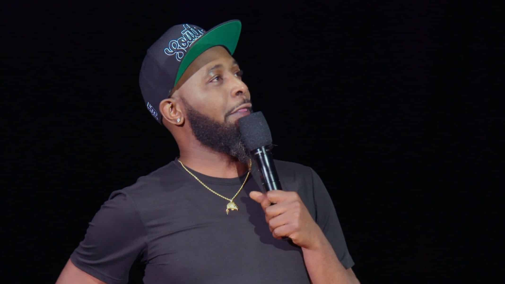 Karlous Miller during his stand up set.