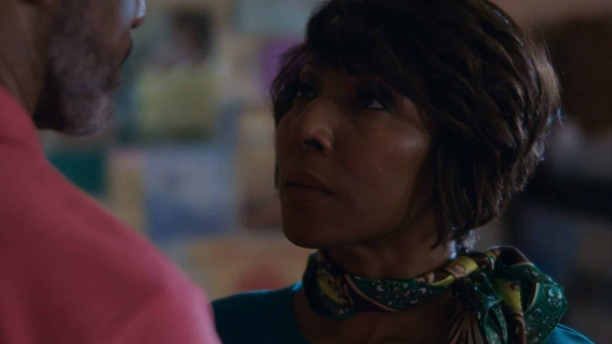 Patrice (Harriet D. Foy) talking to the pastor