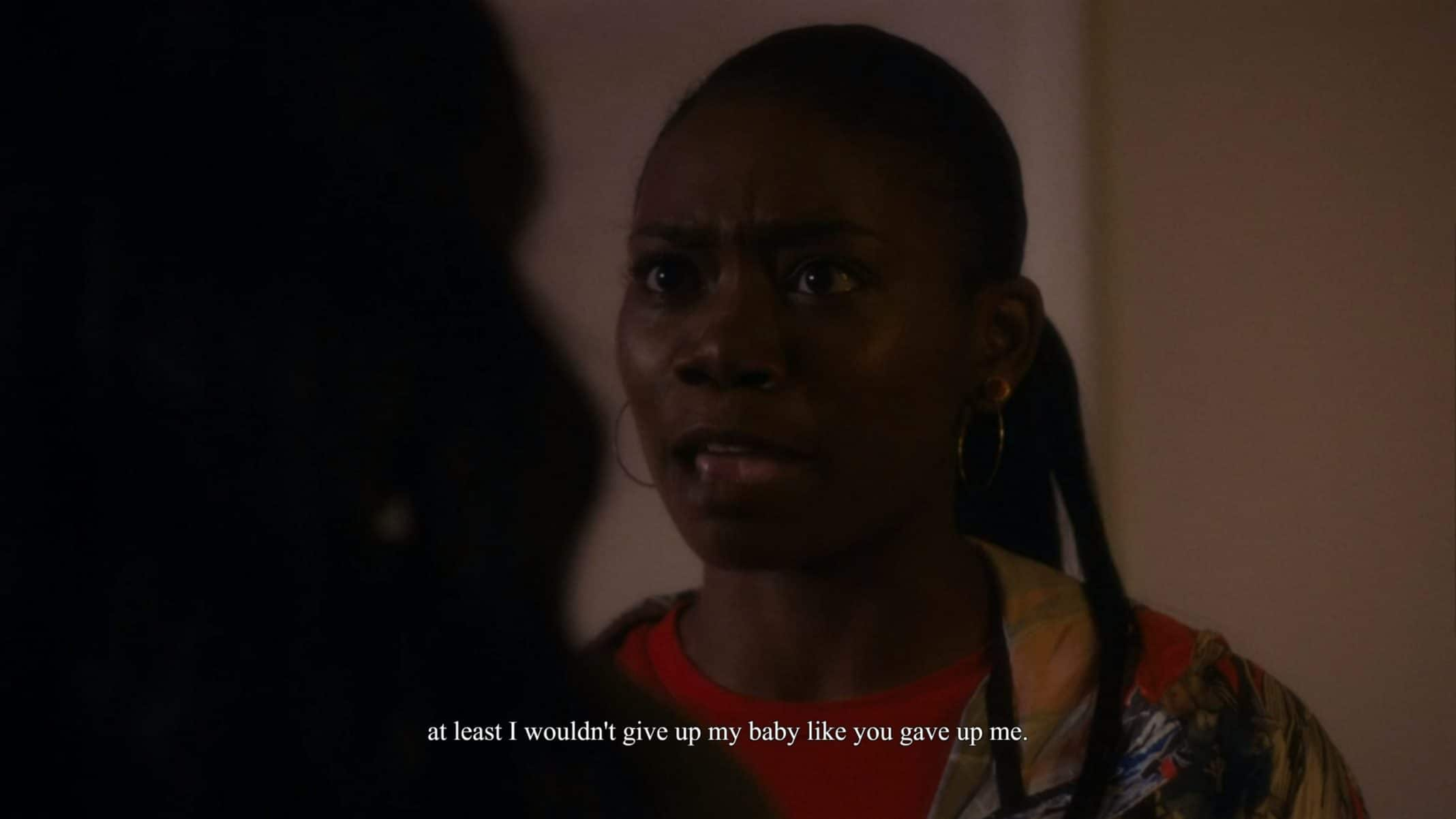 Terricka (A'Zaria Carter) getting mad at her mom.