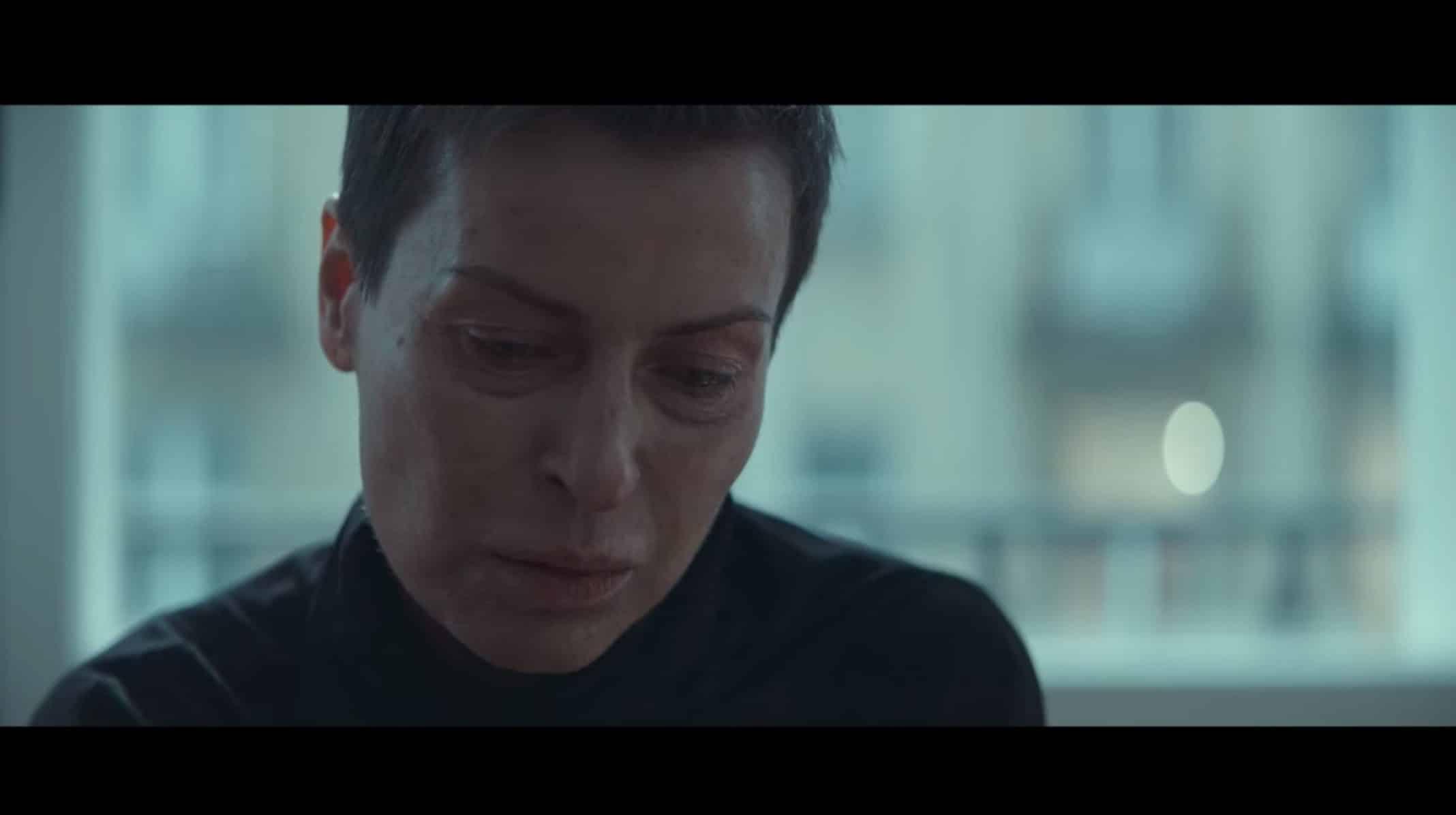 Zofia (Danuta Stenka) distraught.