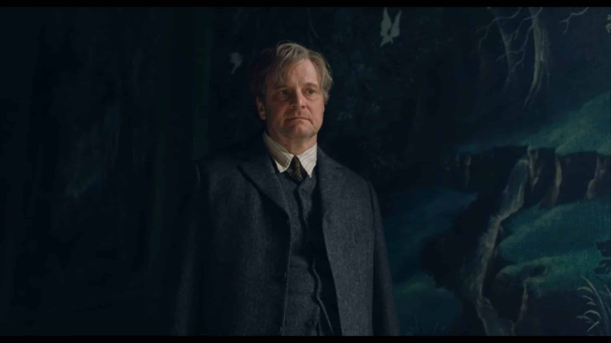 Archibald (Colin Firth) chastising his niece.