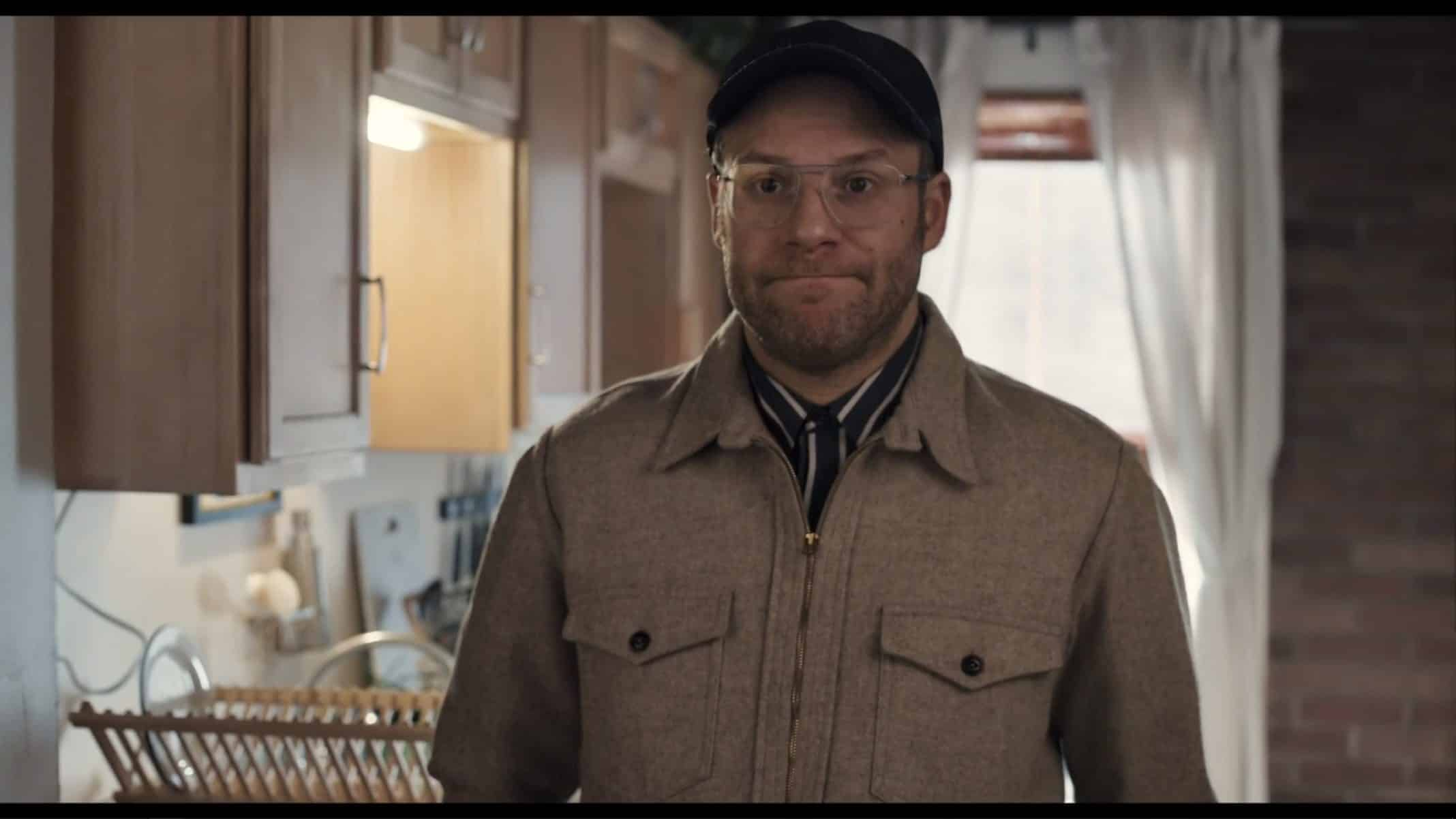 Ben (Seth Rogen) showing off his household.