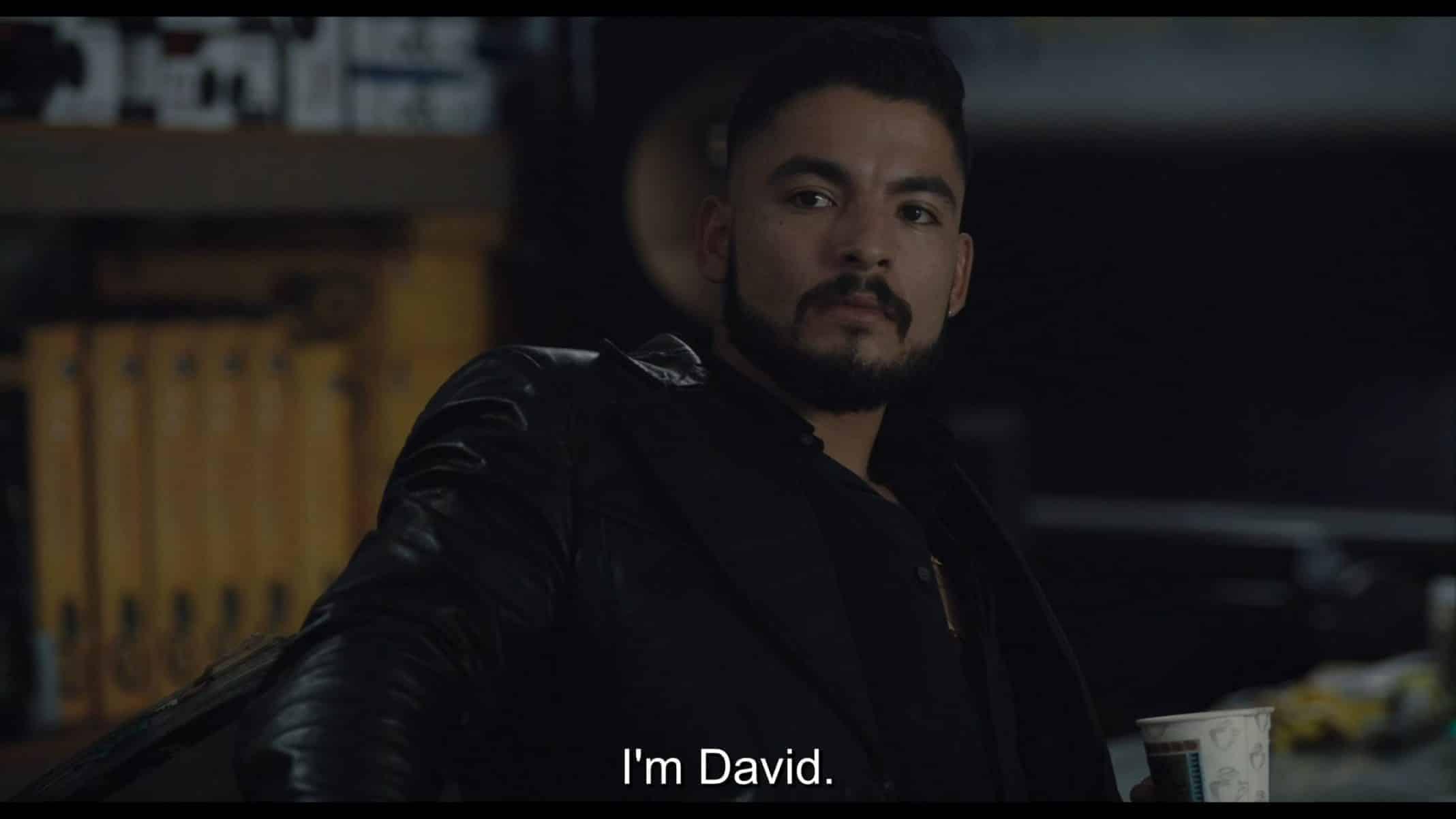 David (Bobby Soto) introducing himself