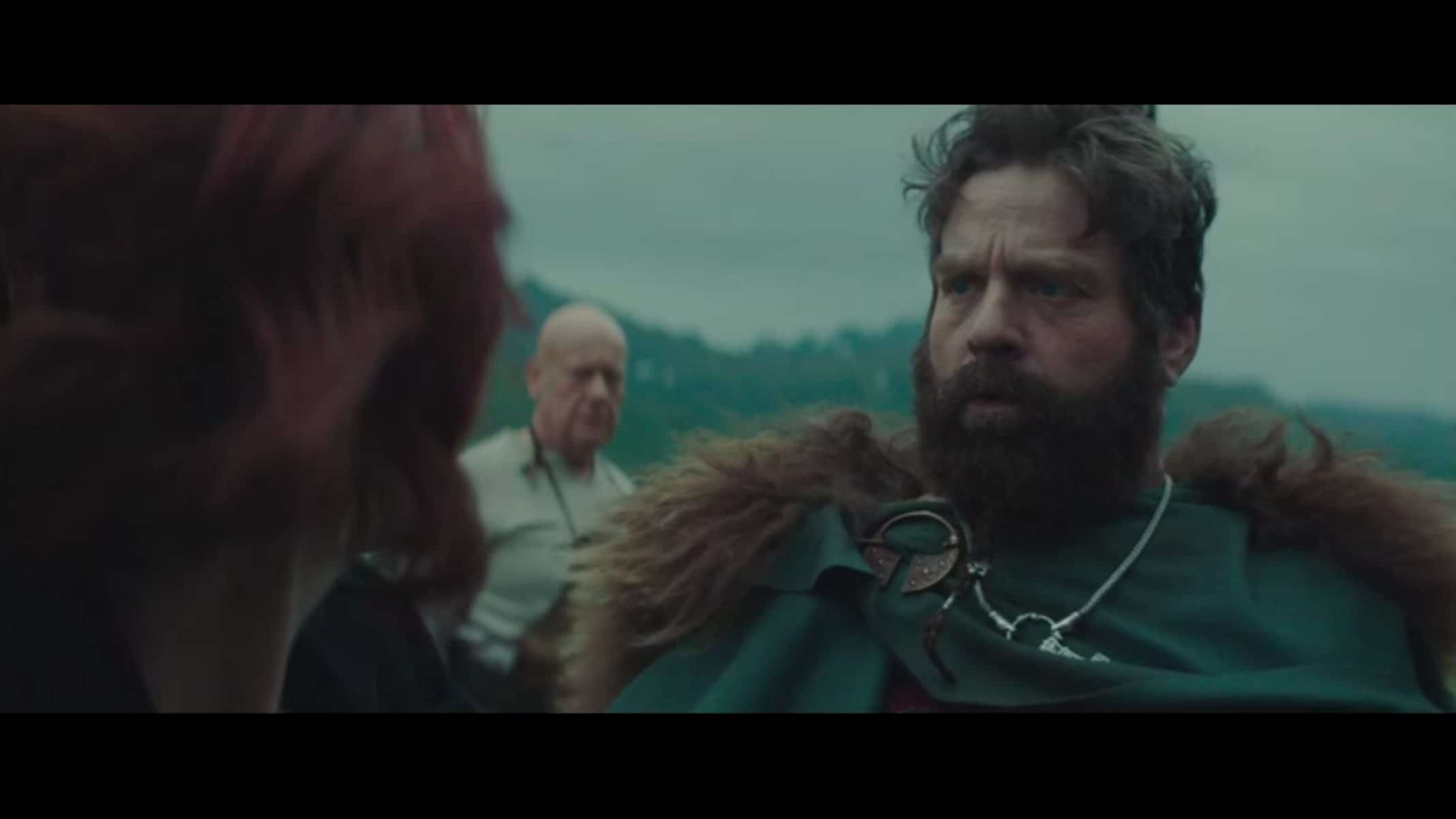 Haldor (Zach Galifianakis) in a viking outfit.