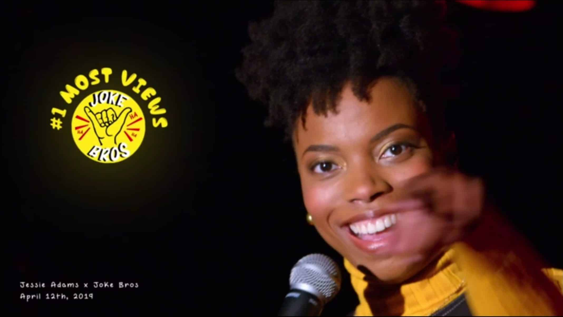 Jessie Adams (Sasheer Zamata) in a promo photo for her stand up set.