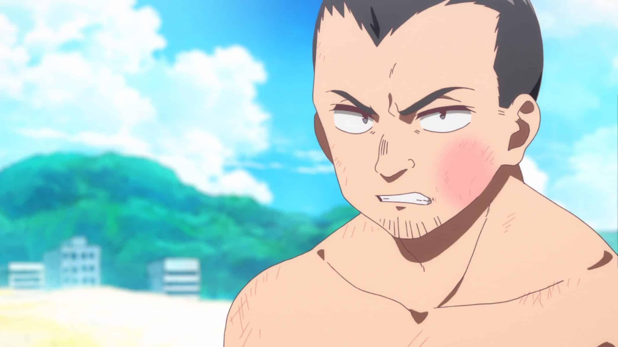 Kibe (Akasaka Masayuki) after fighting with Kazuya.