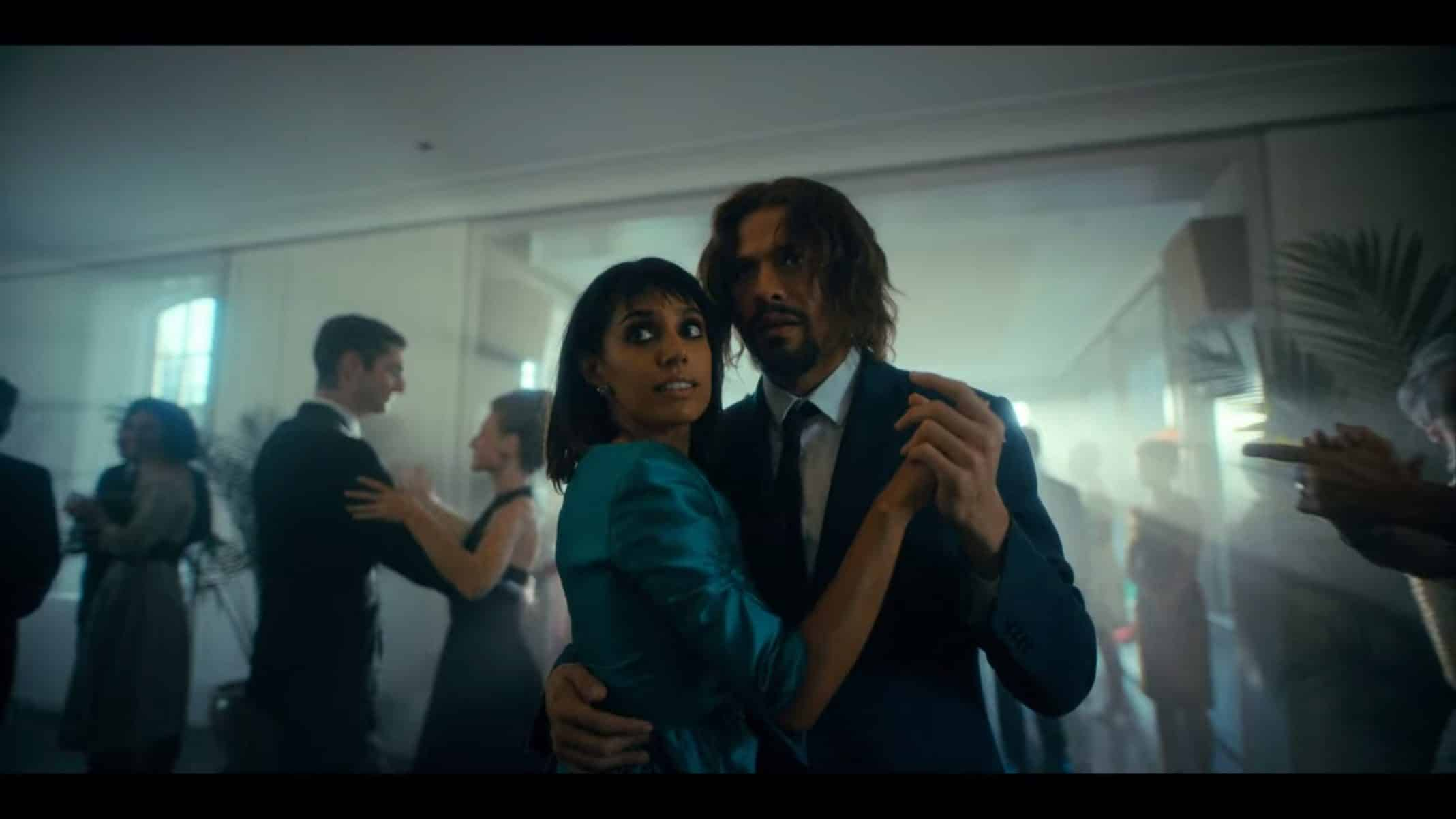 Lila and Diego dancing.