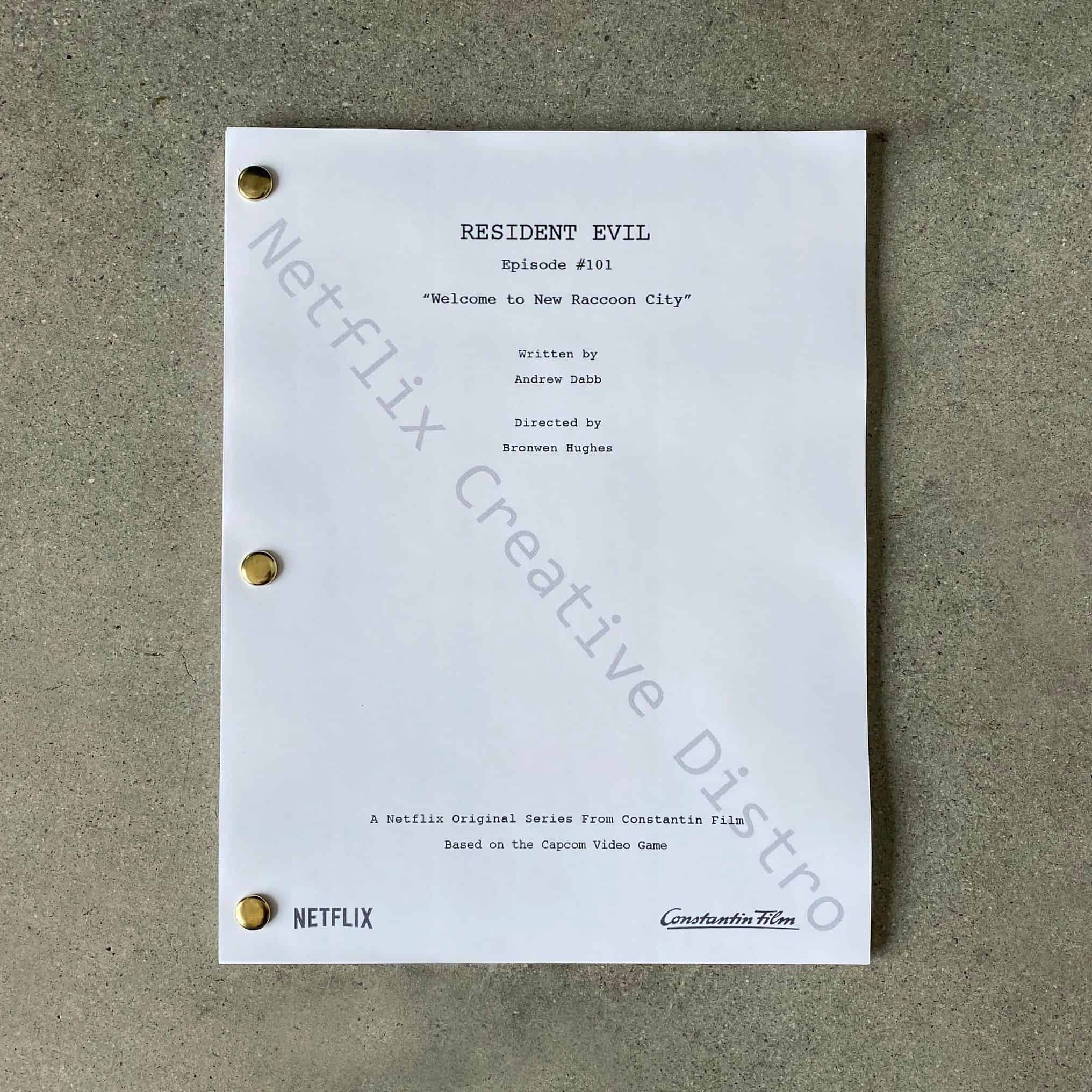"Resident Evil Pilot Script revealing the first episode is ""Welcome to New Raccoon City"""