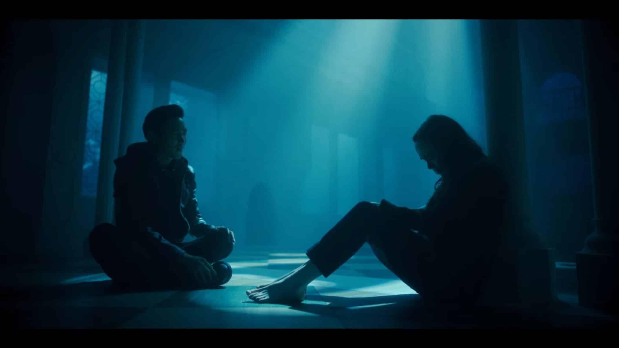 Ben and Vanya talking in her subconscious.