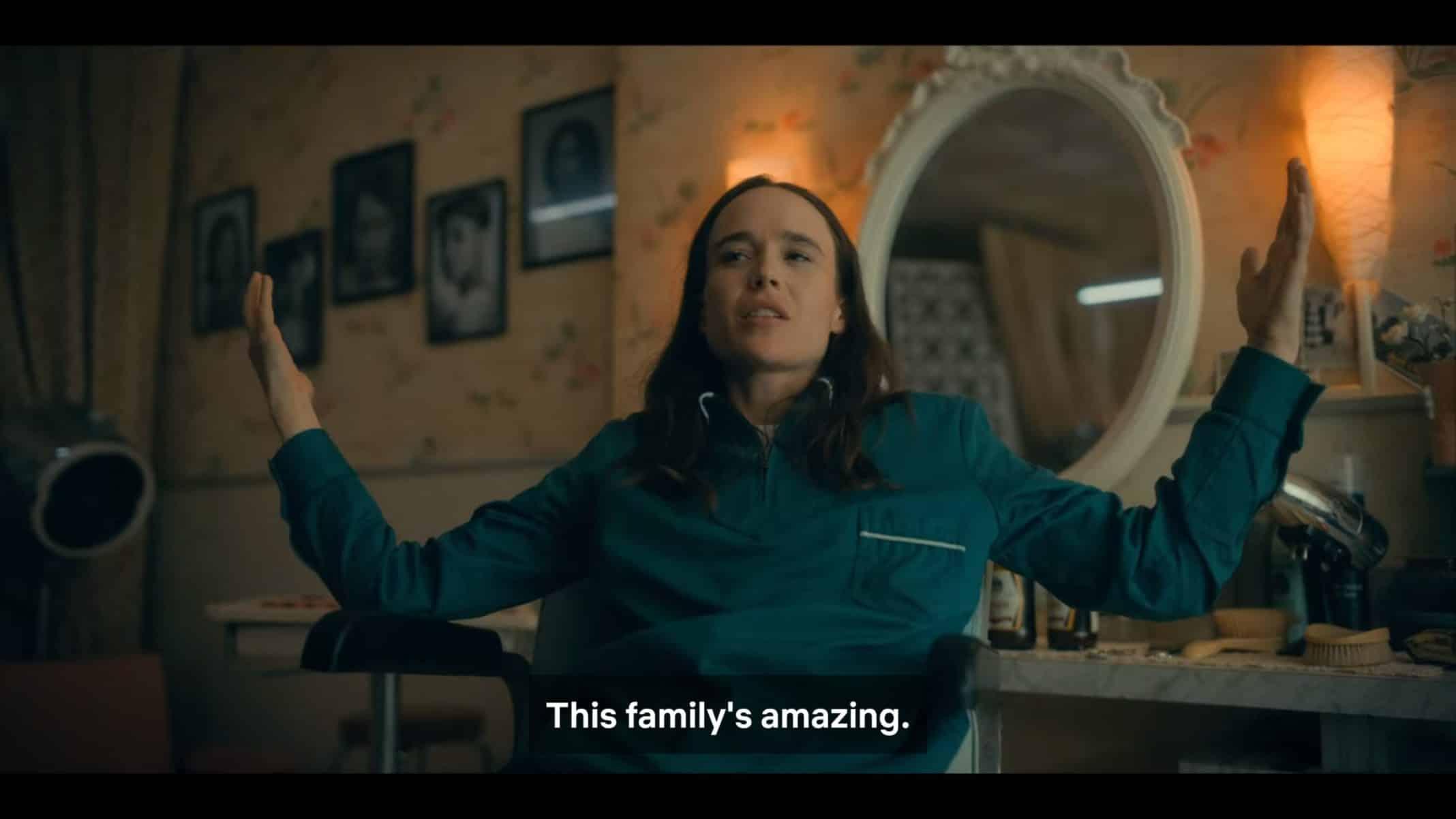 Vanya noting her family is amazing.