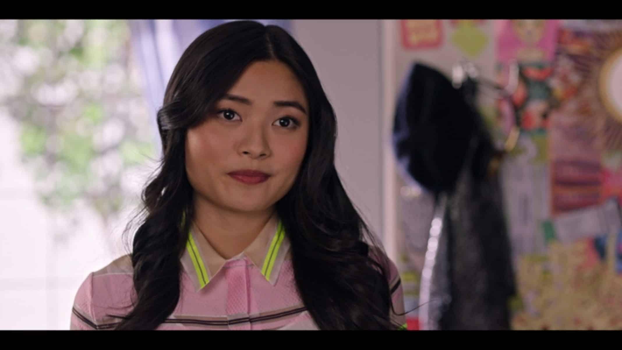 Eleanor (Ashley Liao) talking to Sam.