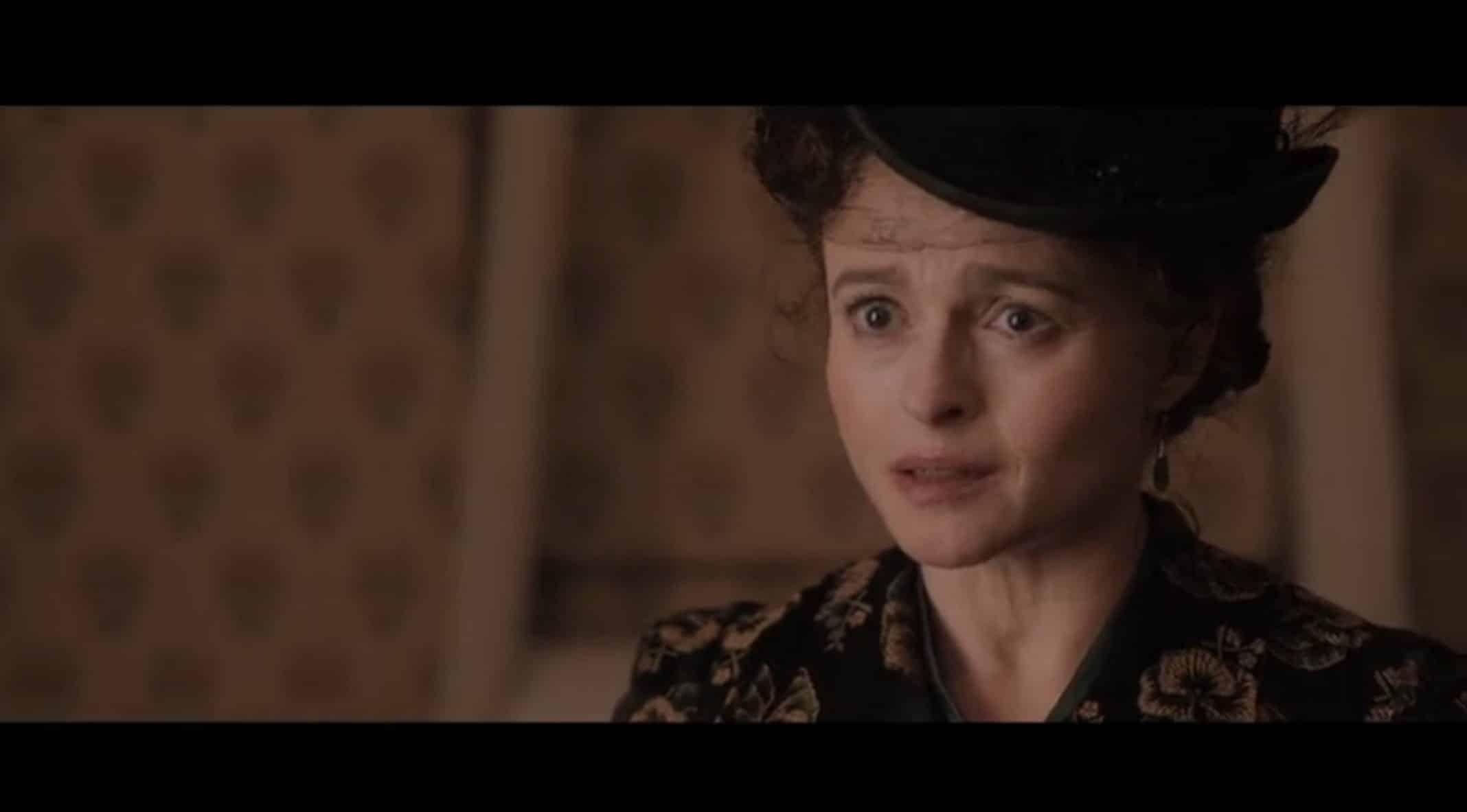 Eudoria Holmes (Helena Bonham Carter) appearing before Enola