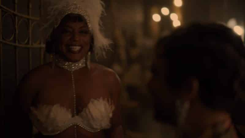 Hippolyta as one of Josephine Baker's dancers.