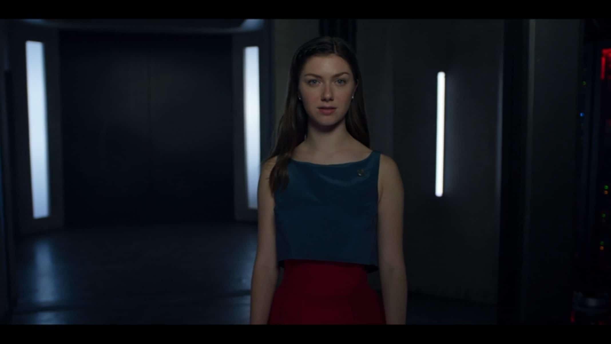 January (Isabella Blake-Thomas) revealing her plan.