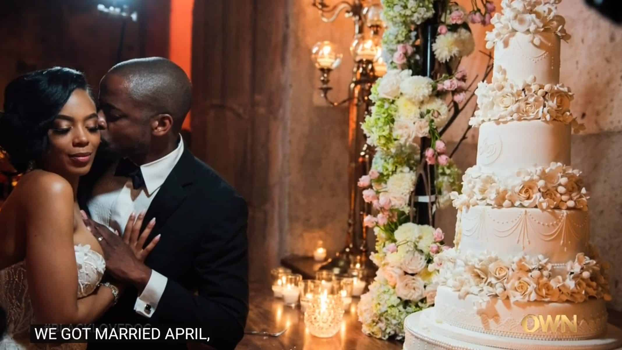 Jazmyn Simon and Dulé Hill in their wedding picture.