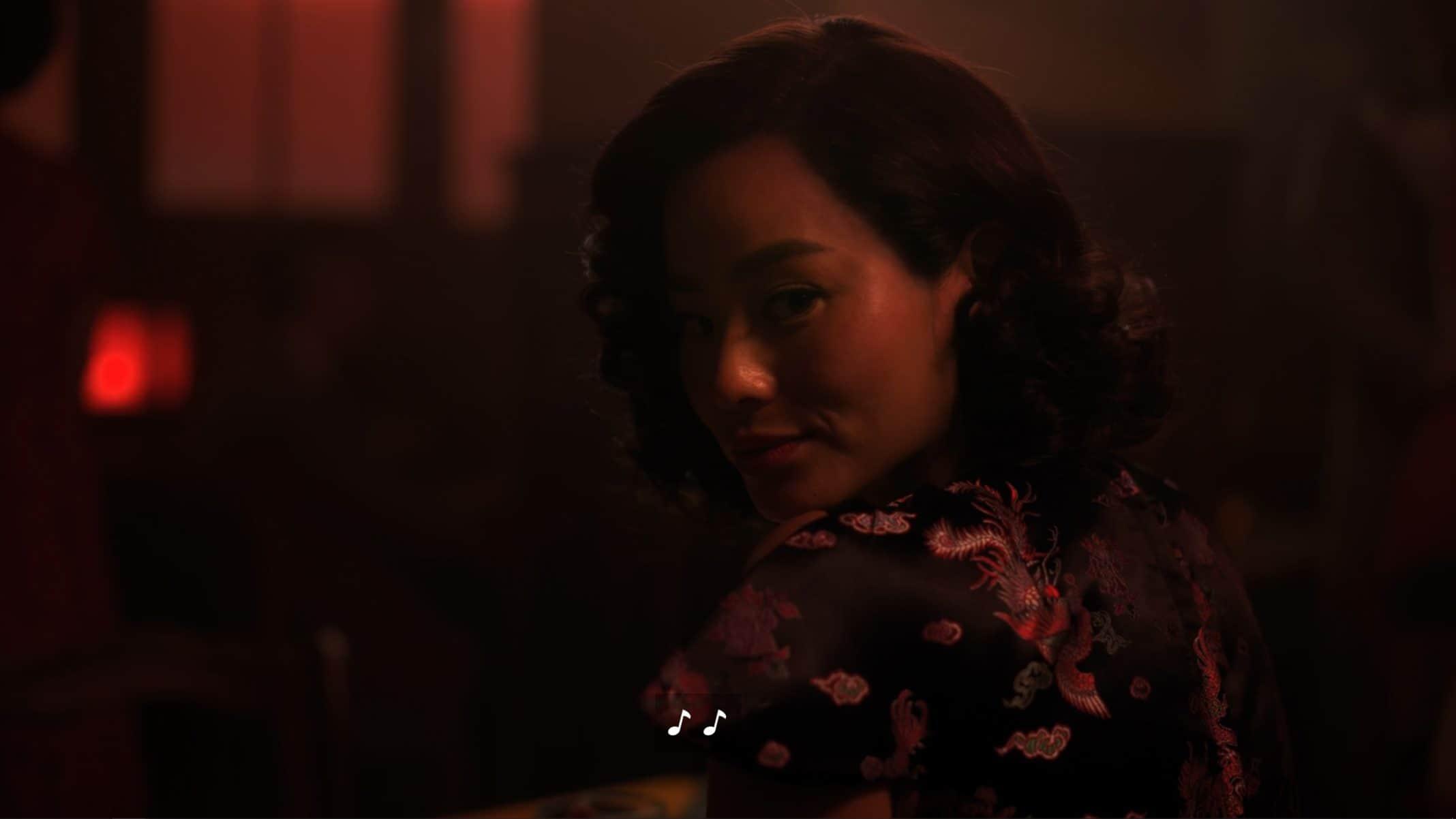 Ji-ah (Jamie Chung) looking over her shoulder.