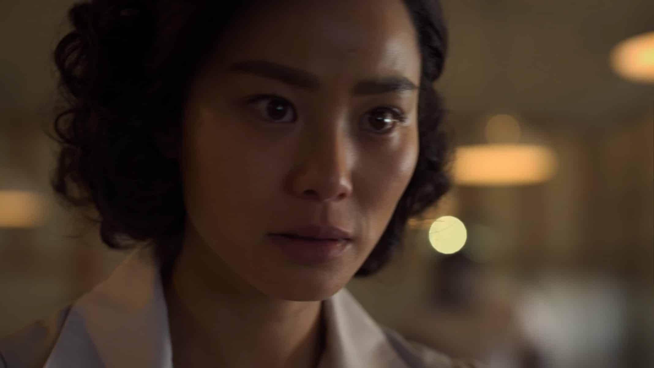 Jia-ah (Jamie Chung) as a nurse.