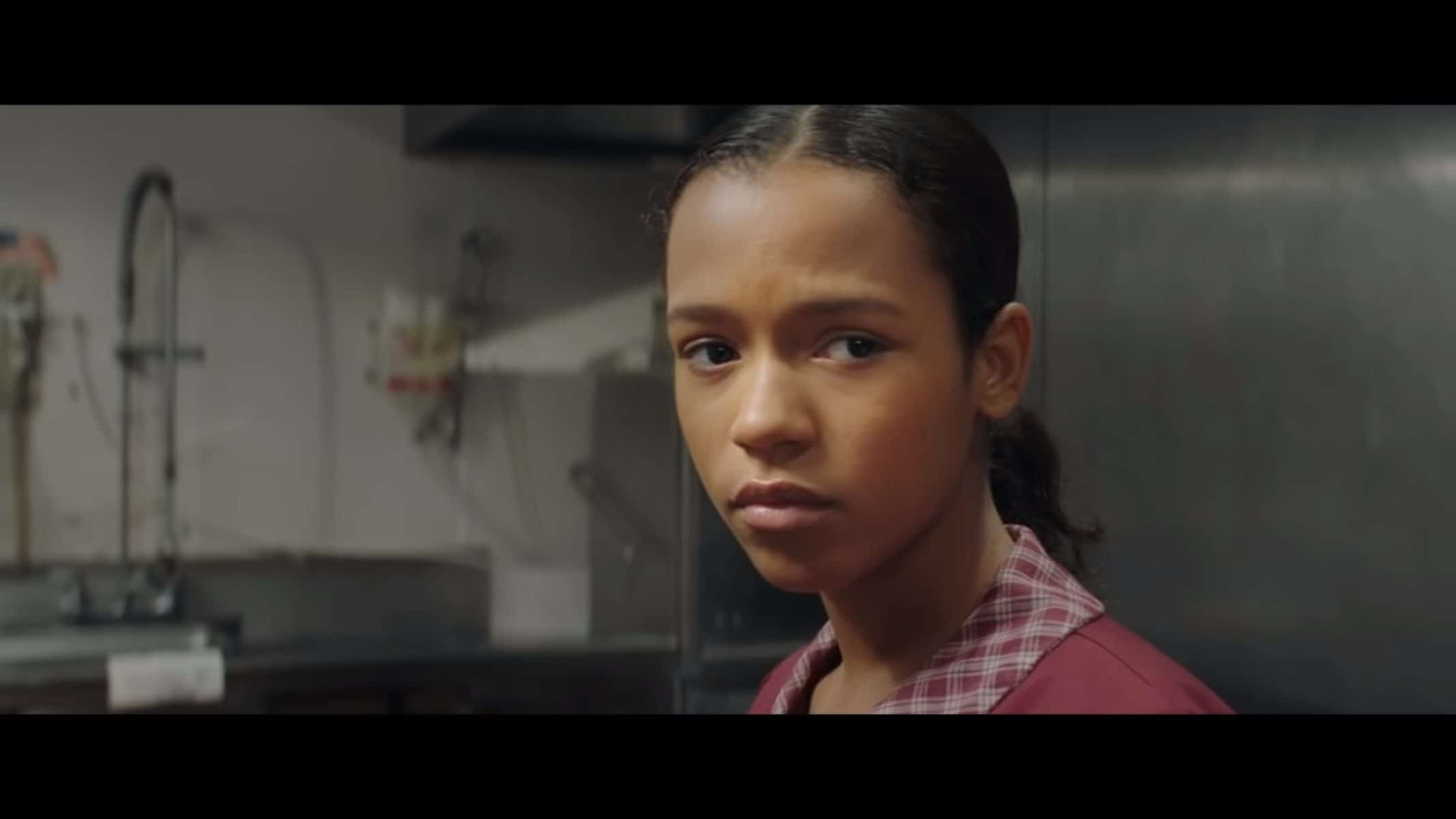Maya (Taylor Russell) at her after school job.