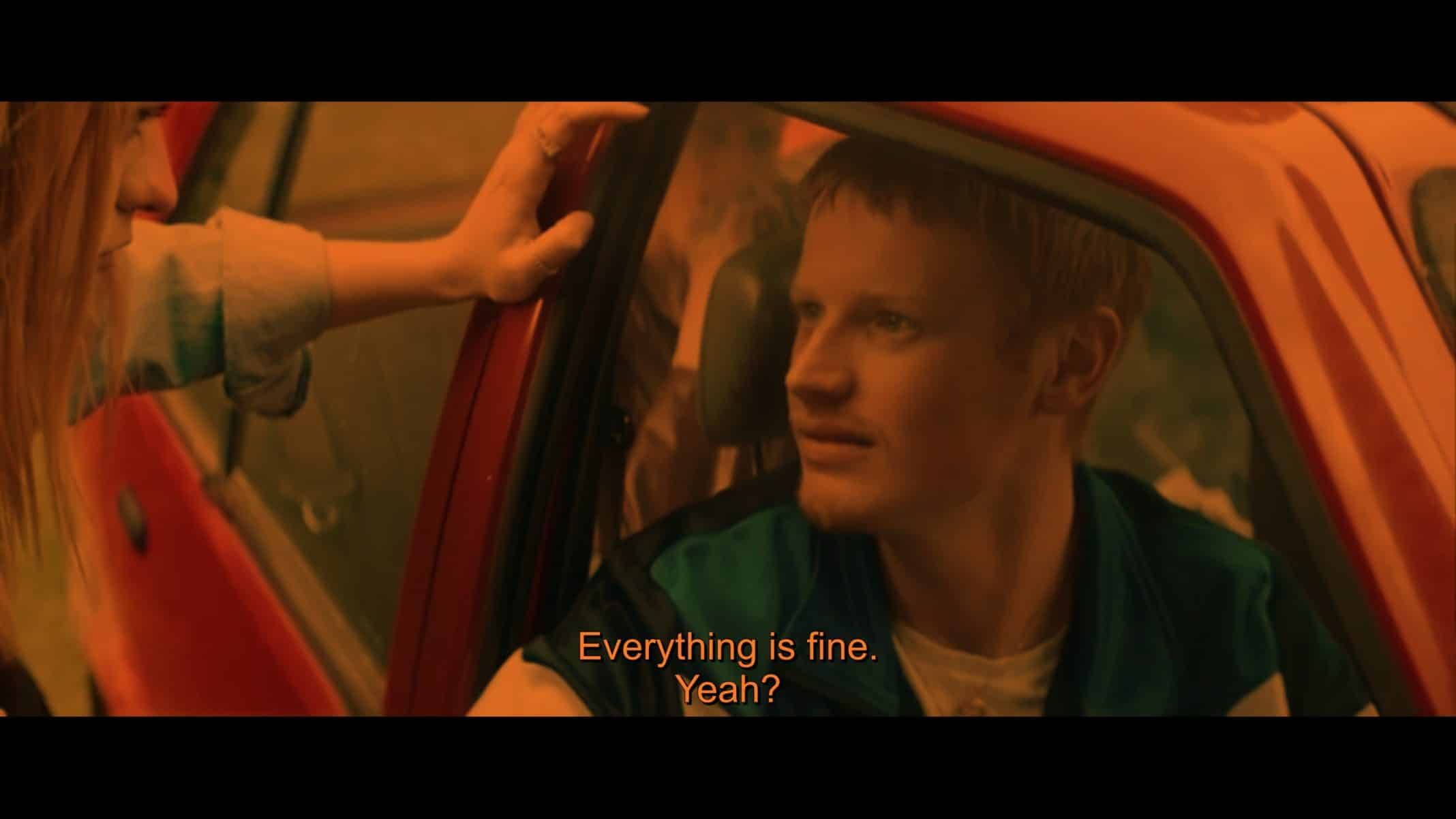 Nathan (Ian Kenny) saying everything is fine.