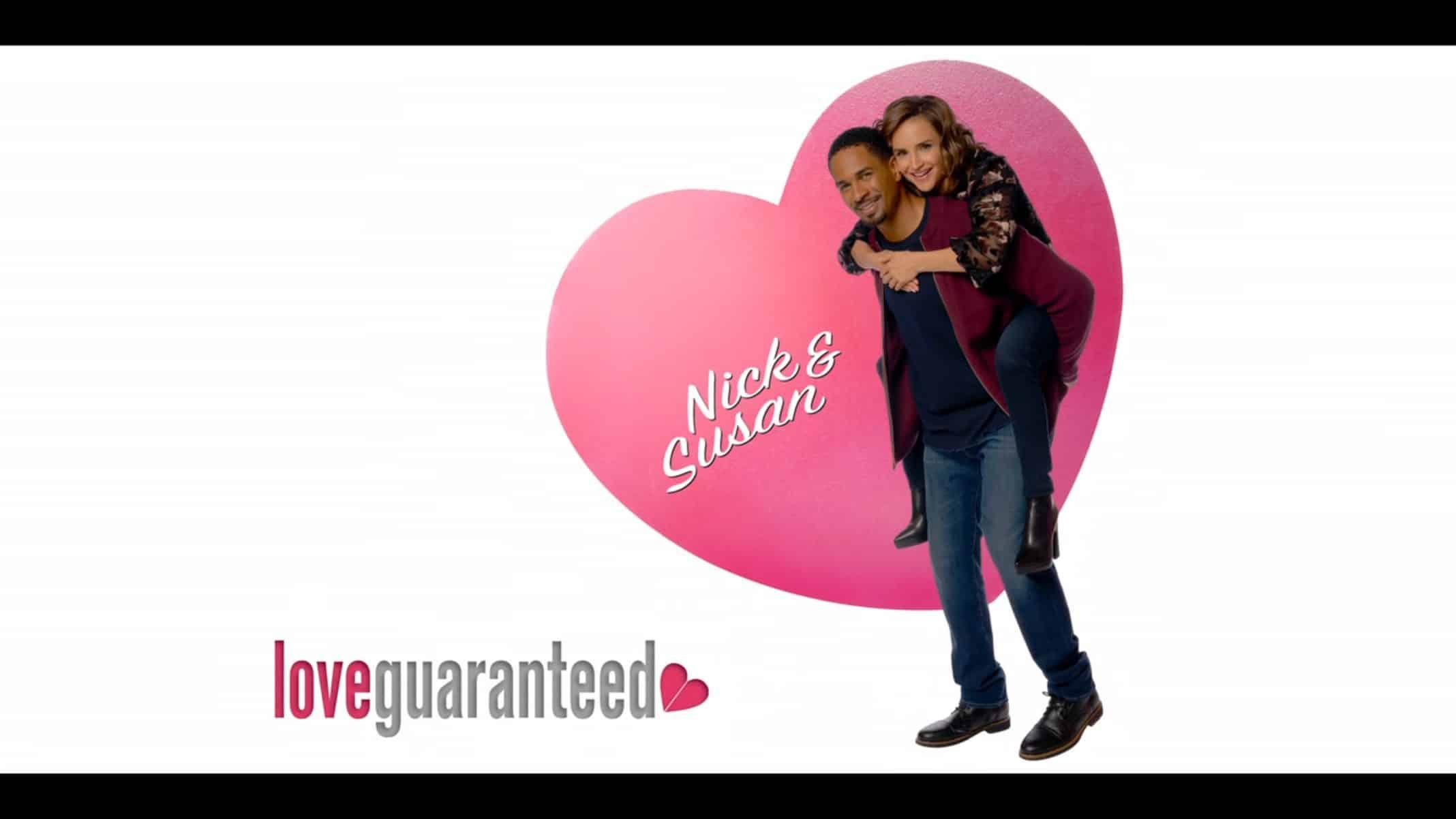 "Nick (Damon Wayans Jr.) and Susan (Rachel Leigh Cook) as ""Love, Guaranteed"" models"