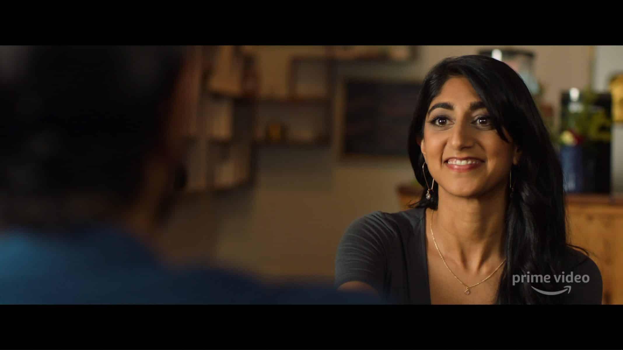 Pallavi (Sunita Mani) when talking to Sandeep