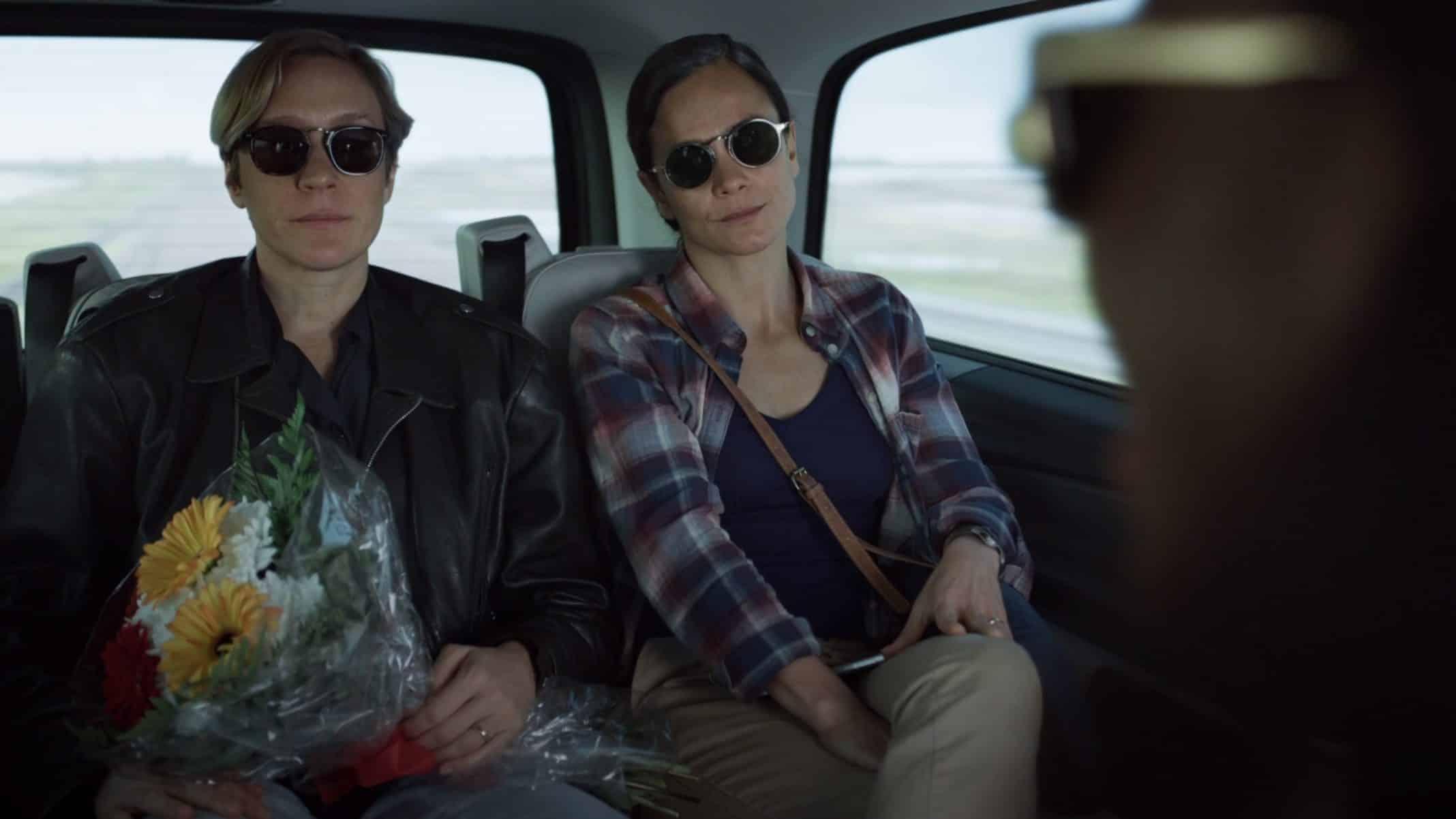 Sarah (Chloe Sevigny) and Maggie (Alice Braga) on their way to the base.