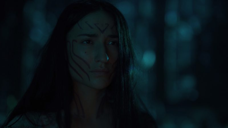 Yahima (Monique Candelaria) after being discovered in Titus' vault.