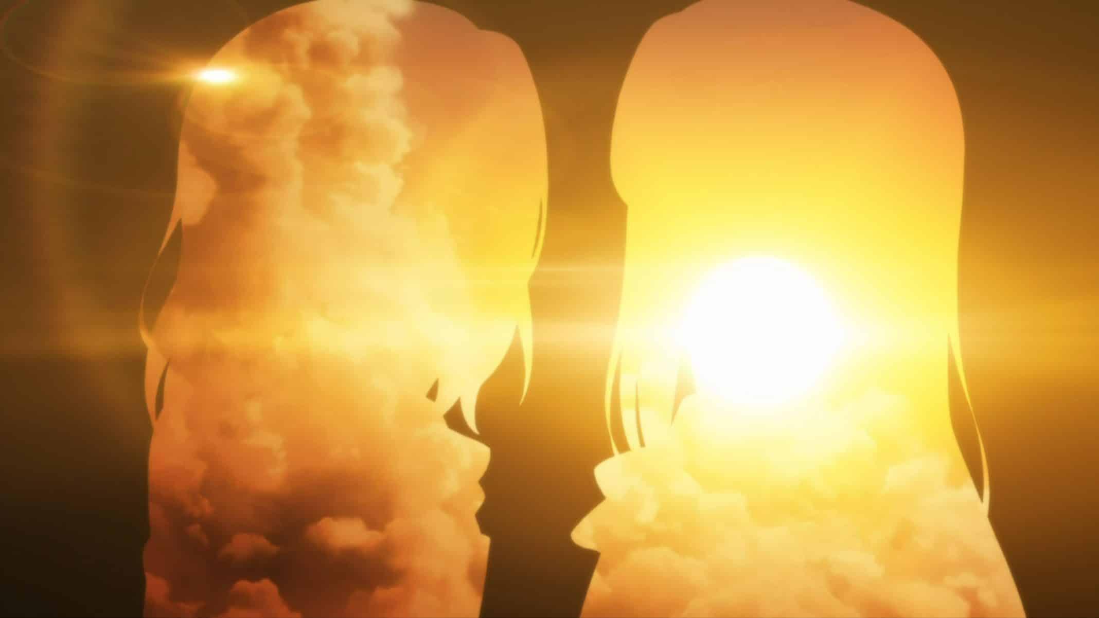 Adachi and Shimamura's silhouette.