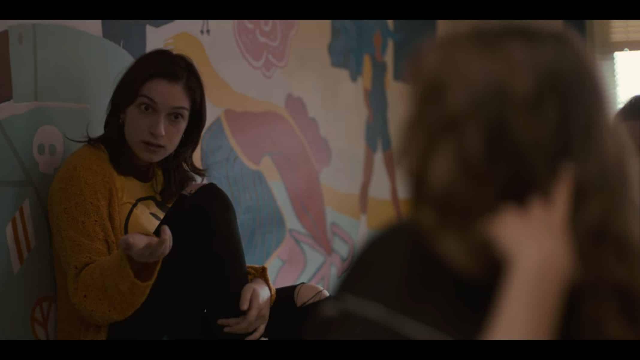 Anna (Sydney Meyer) pressuring Joey to eat a jellybean