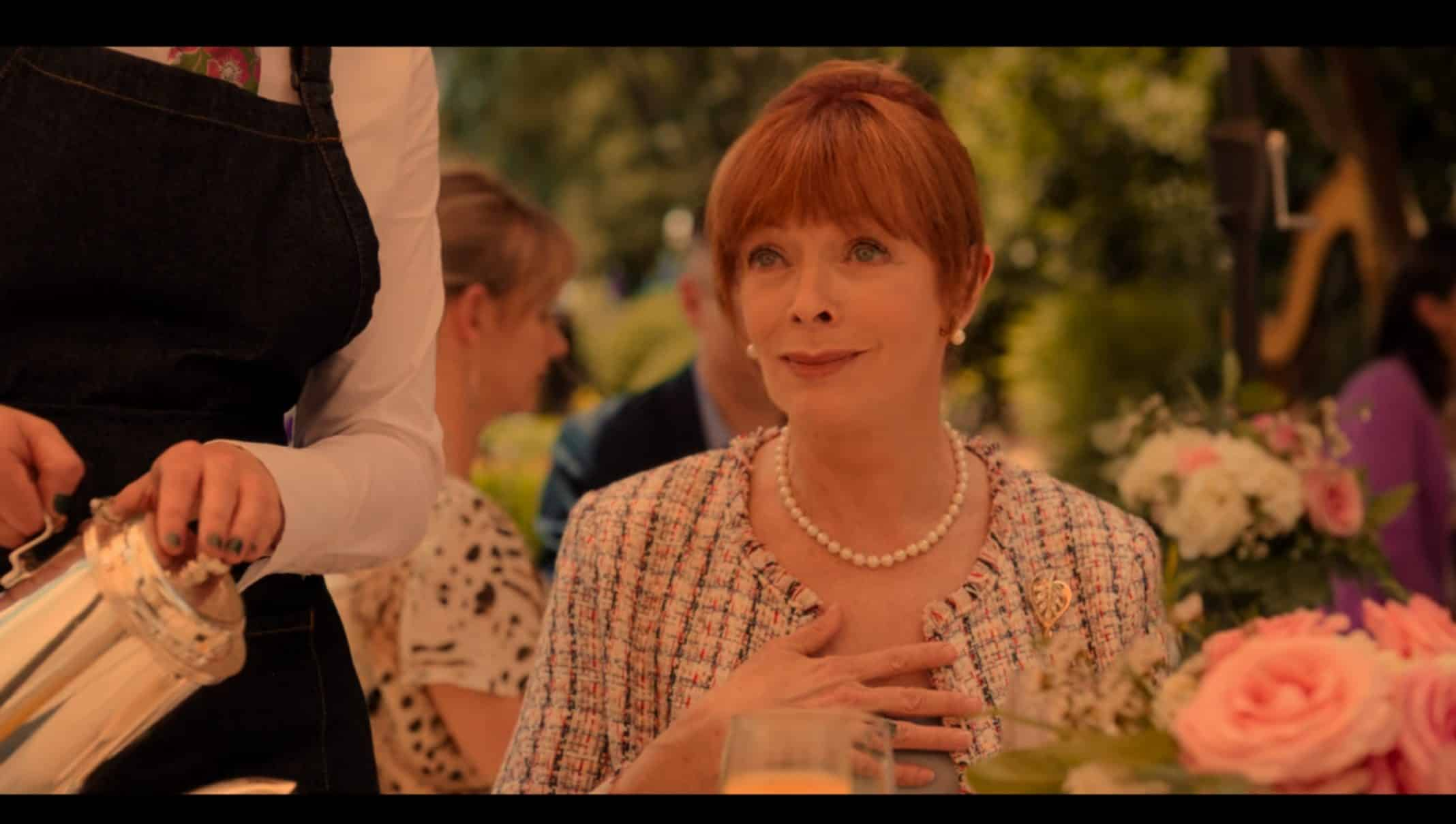 Elaine (Frances Fisher) questioning Jackson's intentions.