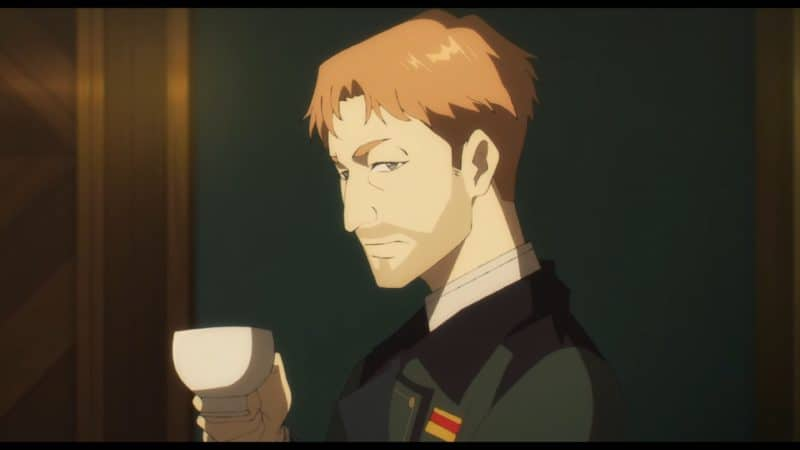 Hermann (Tsuda Kenjirou) with a cup of tea