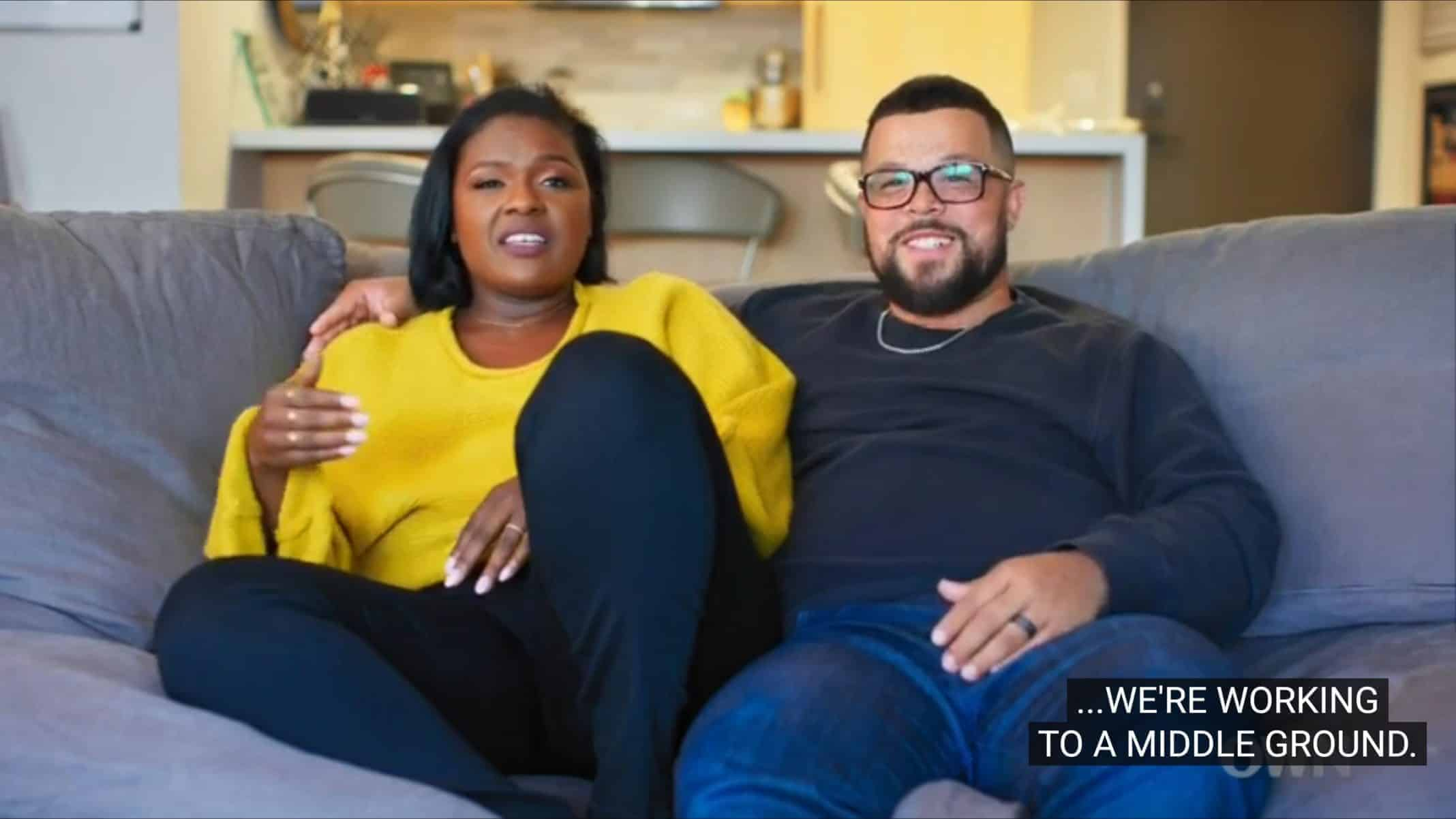 Joy and Terrence talking about their marriage.